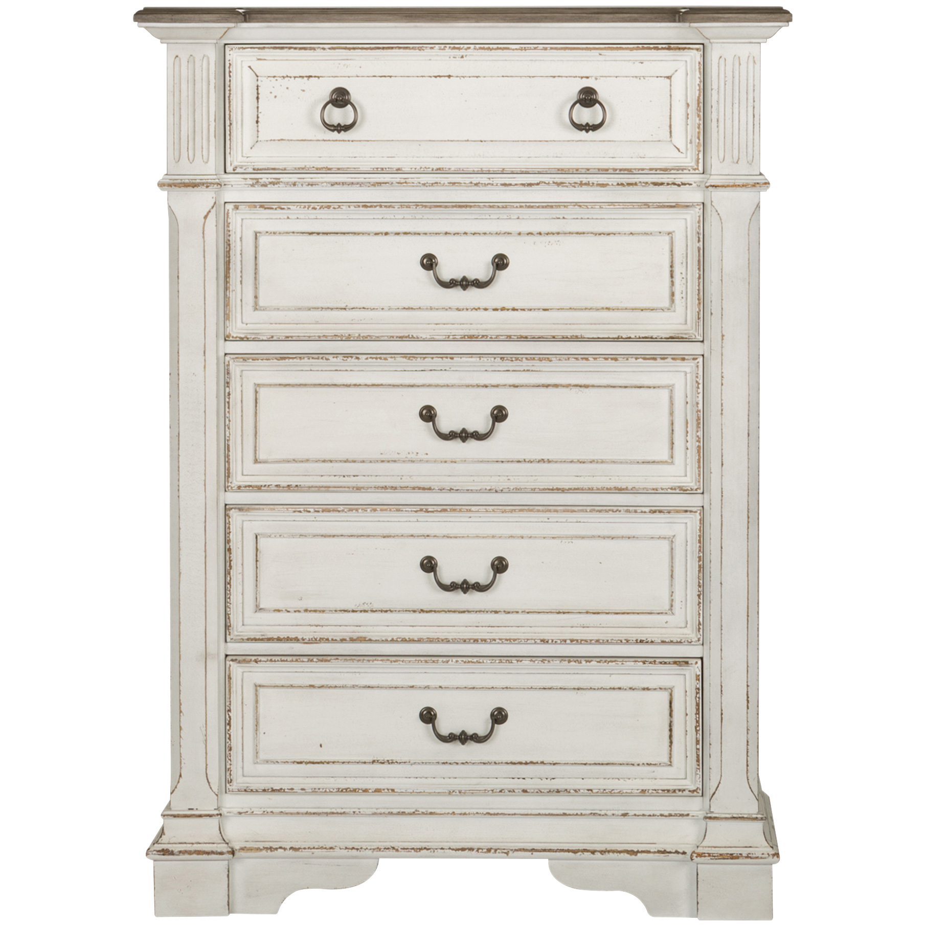 Liberty Furniture | Abbey Park White 5 Drawer Chest