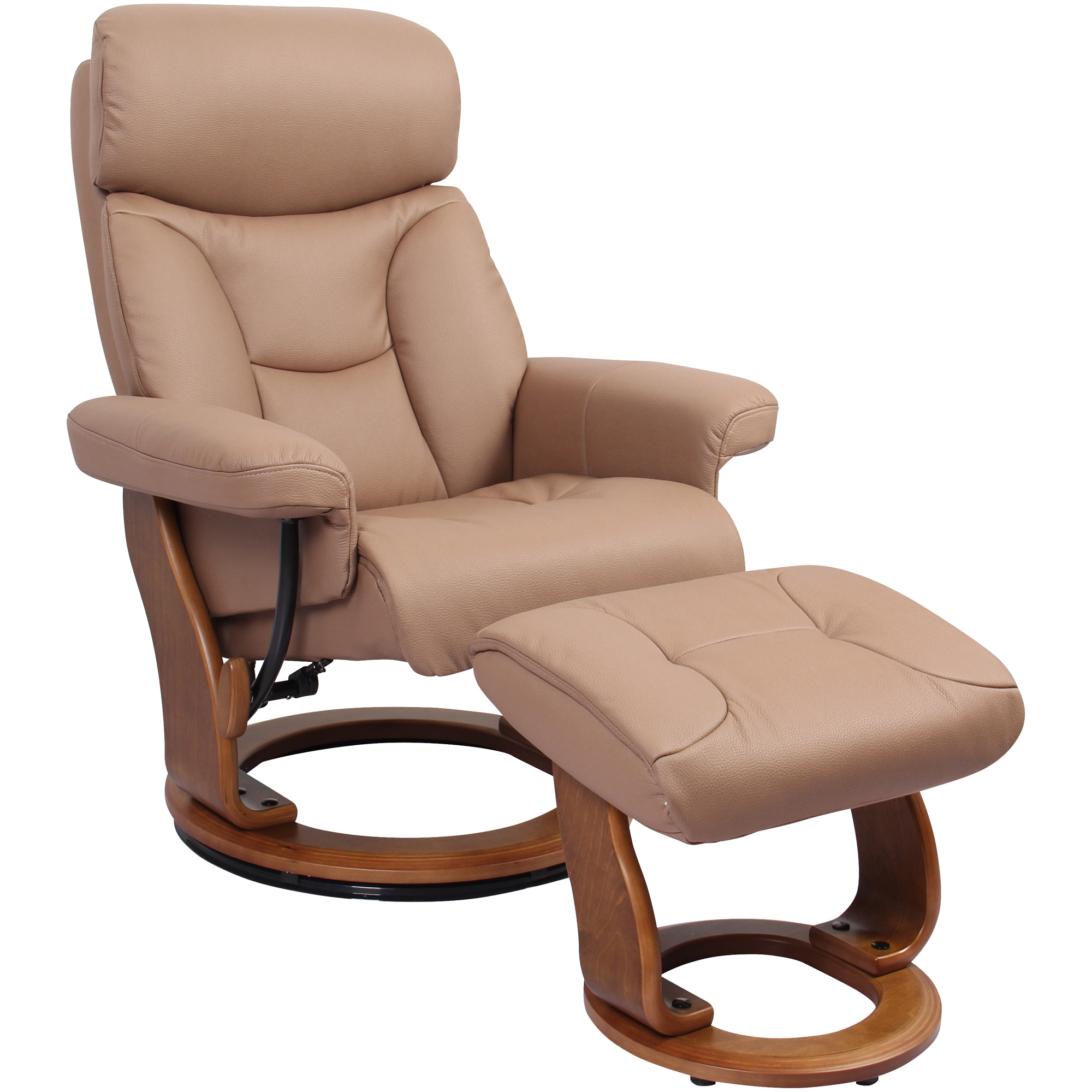 Benchmaster | Emmie Cocoa Recliner Chair with Ottoman