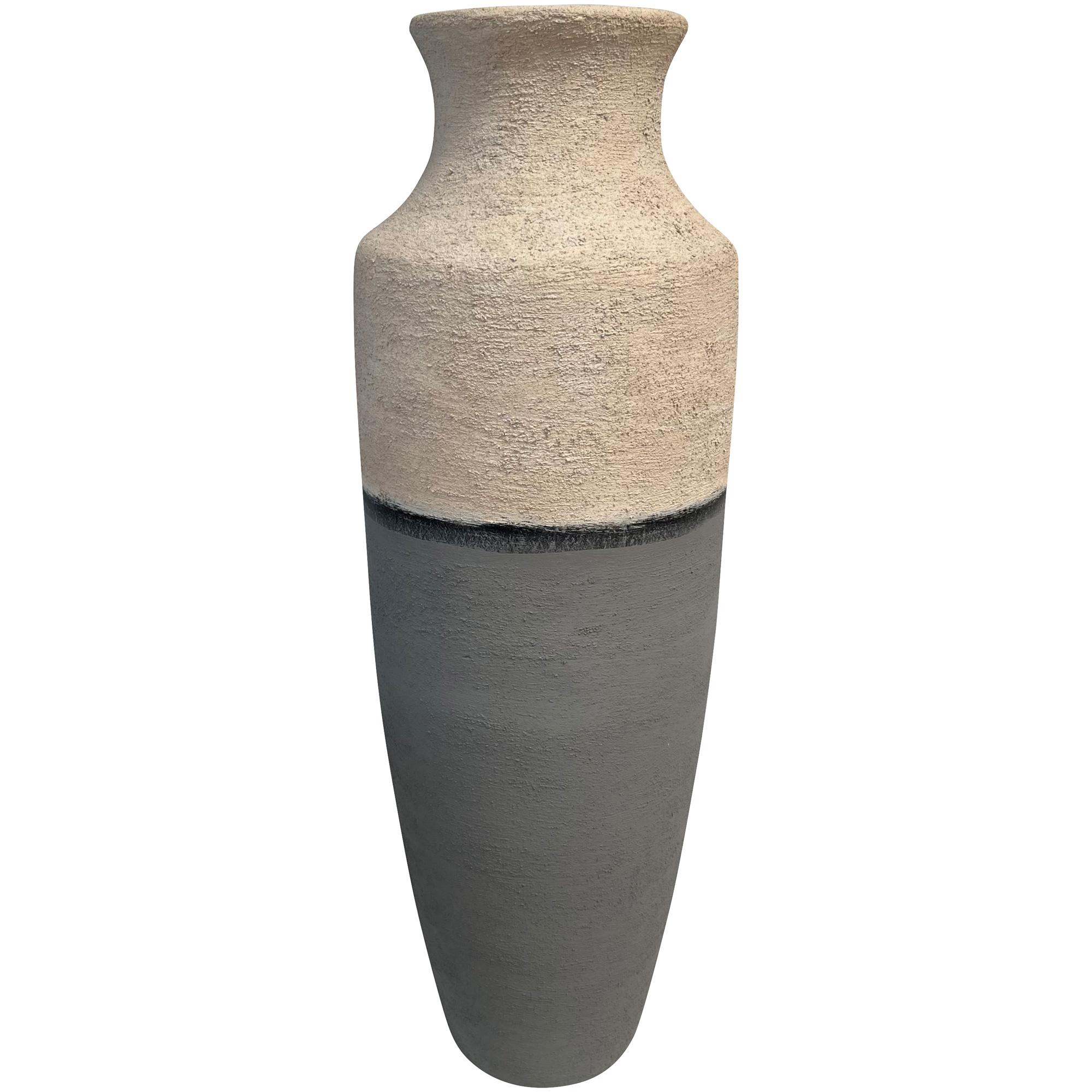 Promart | Terracotta Jarron Prinola White Textured Medium Floor Vase
