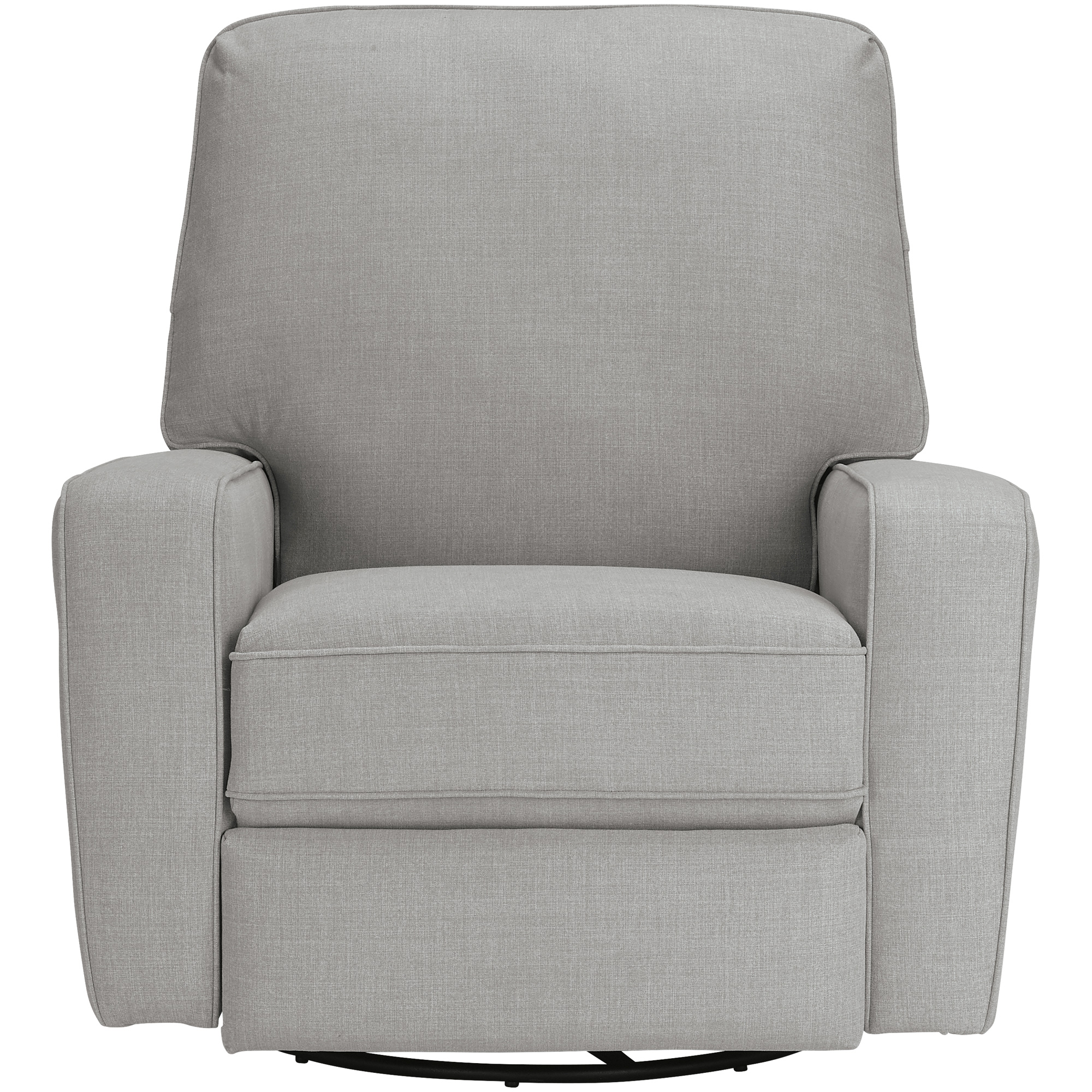 Best Home Furnishings | Bilana DoveGray Swivel Glide Recliner Chair
