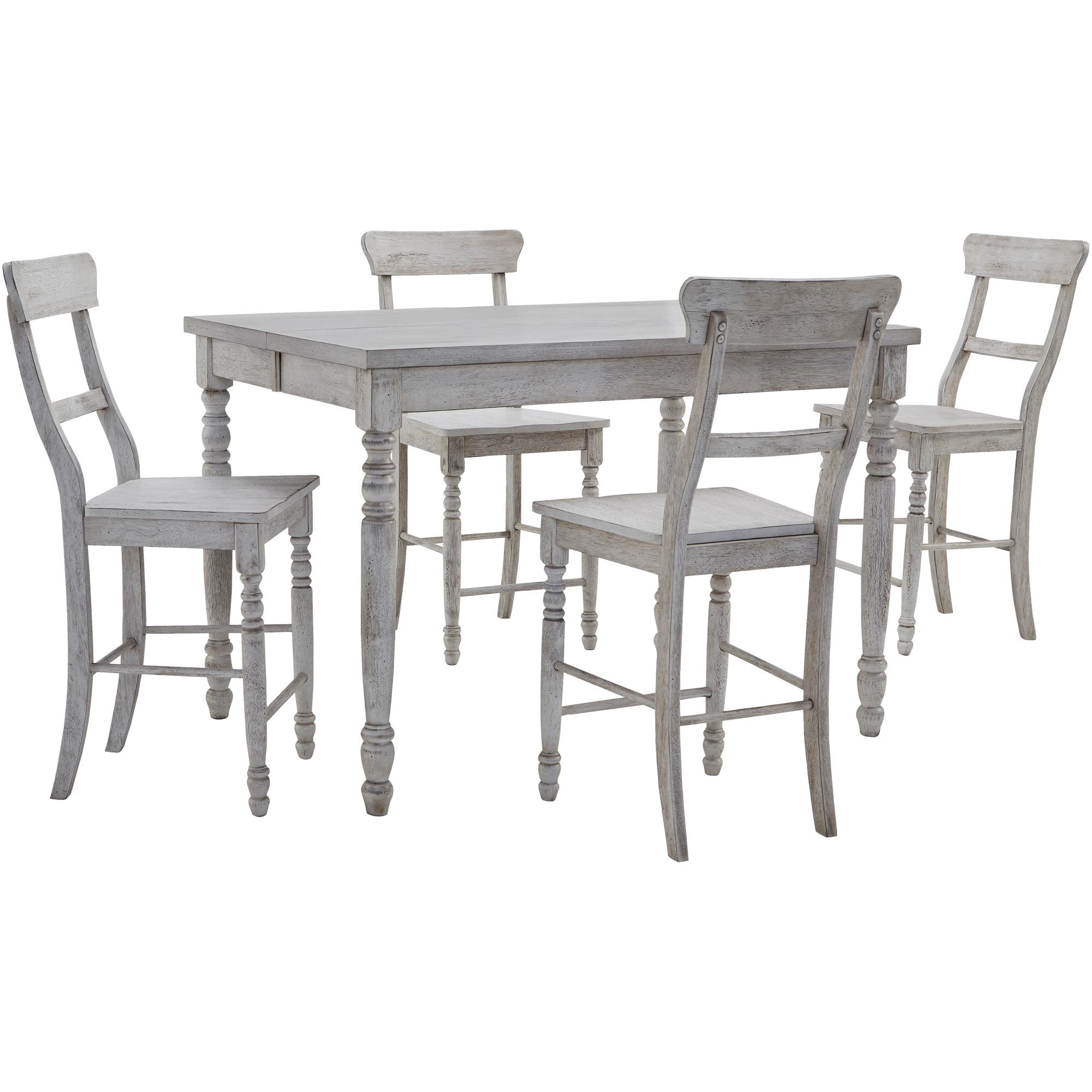 Progressive Furniture Inc. | Savannah Court Antique White 5 Piece Counter Dining Set