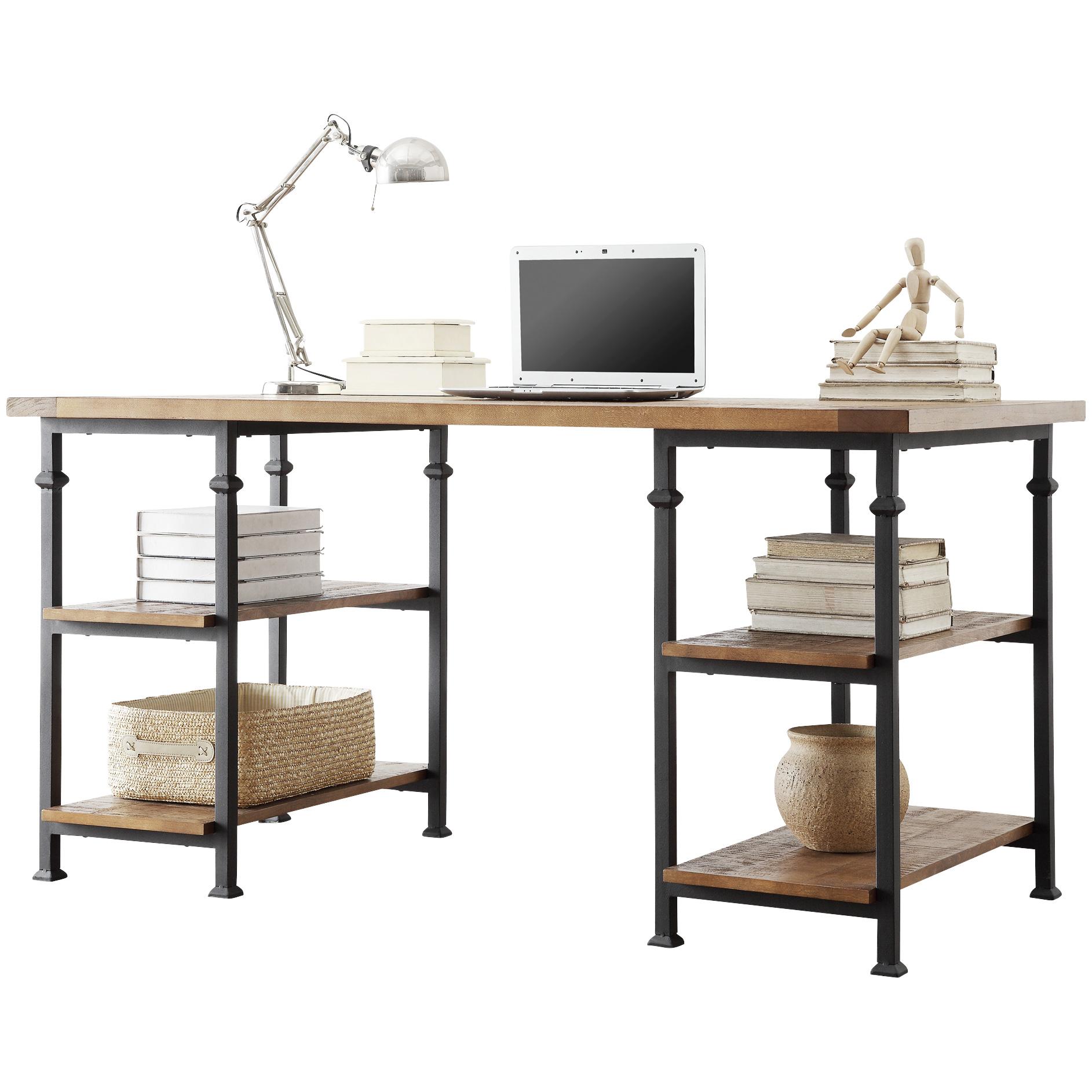 Home Elegance | Ames Medium Brown Oak Desk
