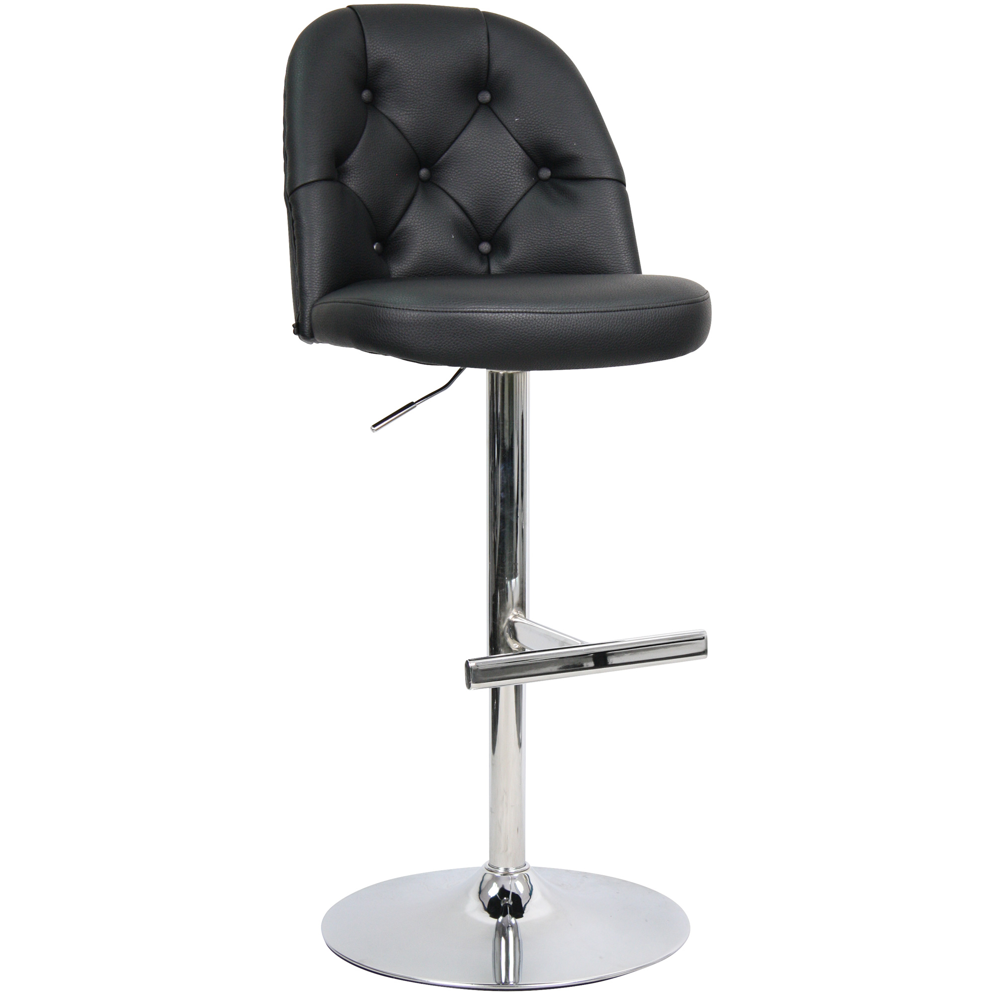 Whalen Furniture | Archer Charcoal Adjustable Stool