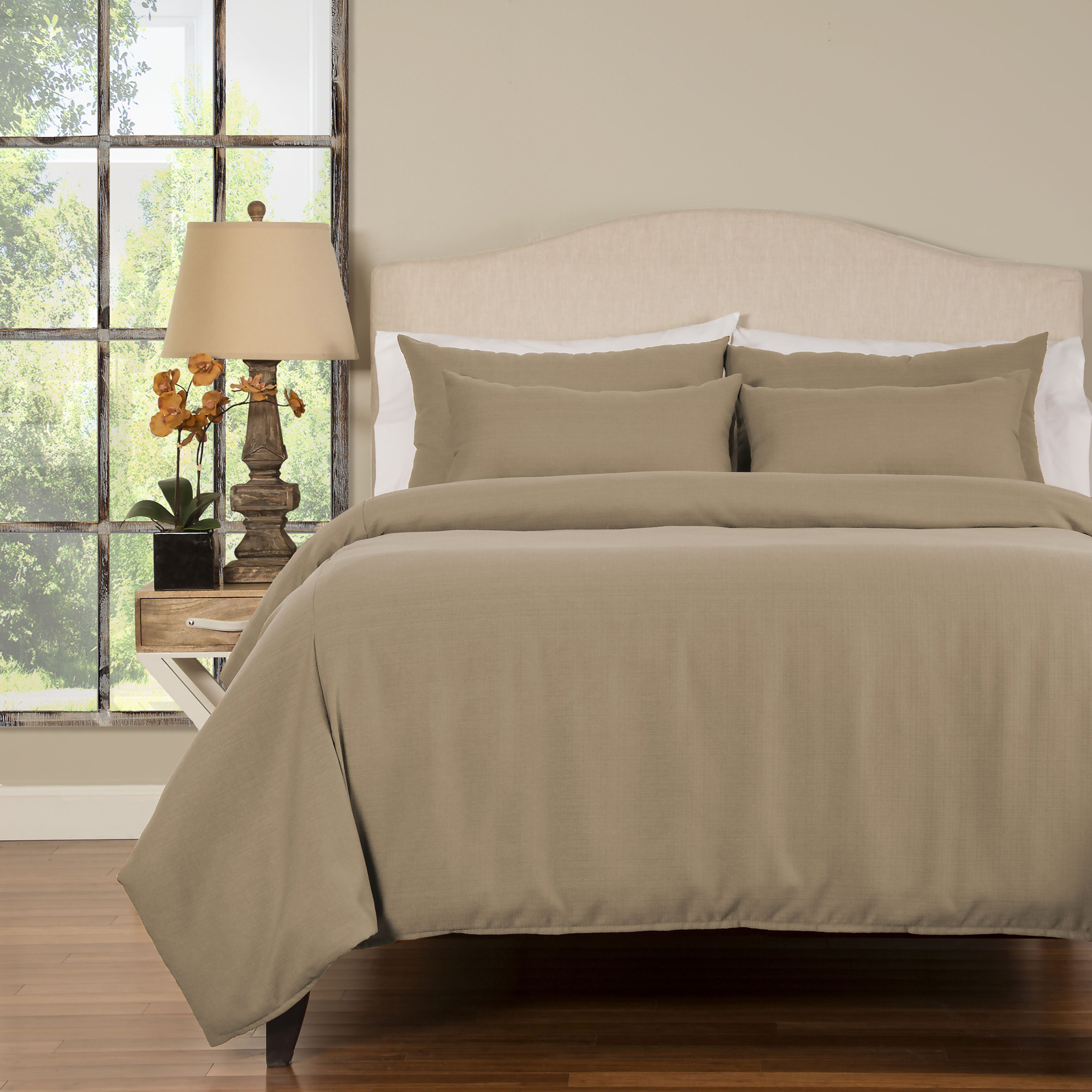 Sis Enterprises | Belfast 6 Piece Flax Queen Duvet Set