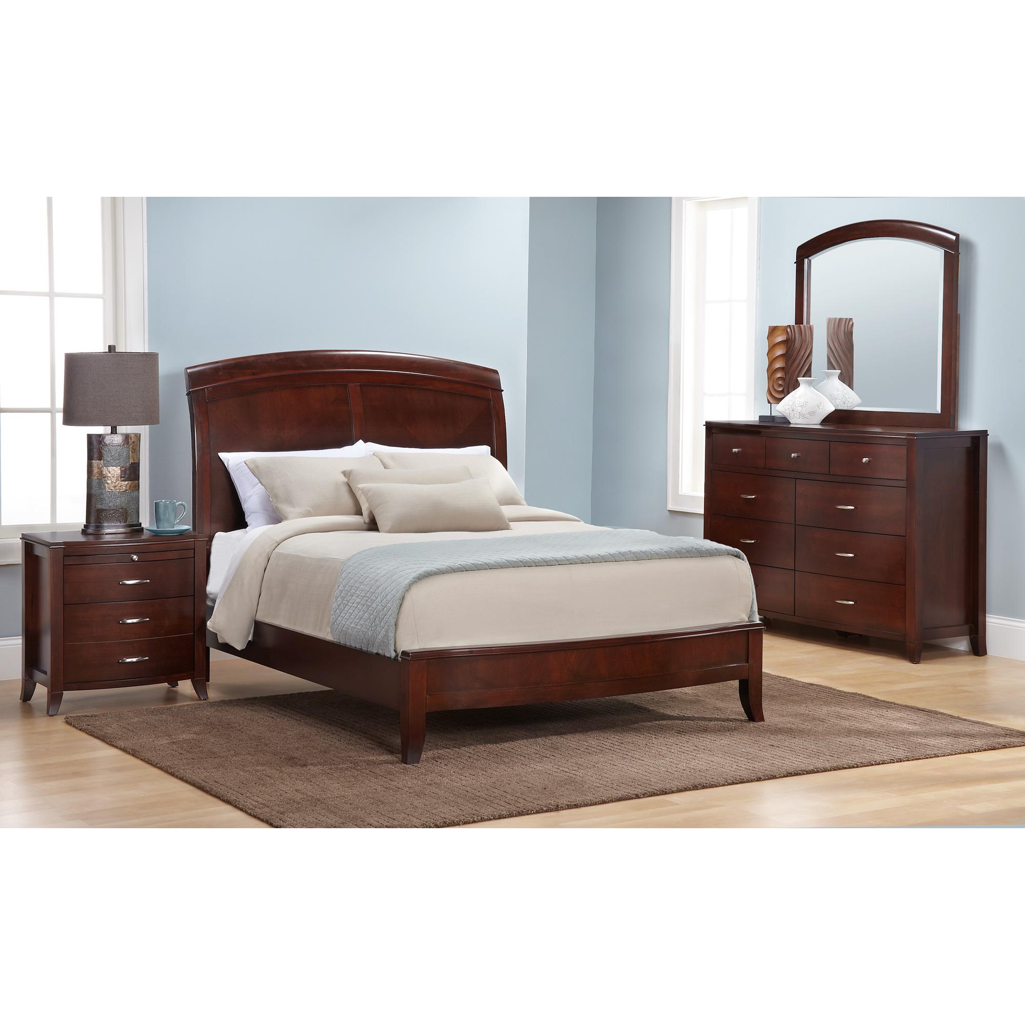 Modus Furniture International | Brighton Cinnamon Full 4 Piece Room Group Bedroom Set | Mahogany