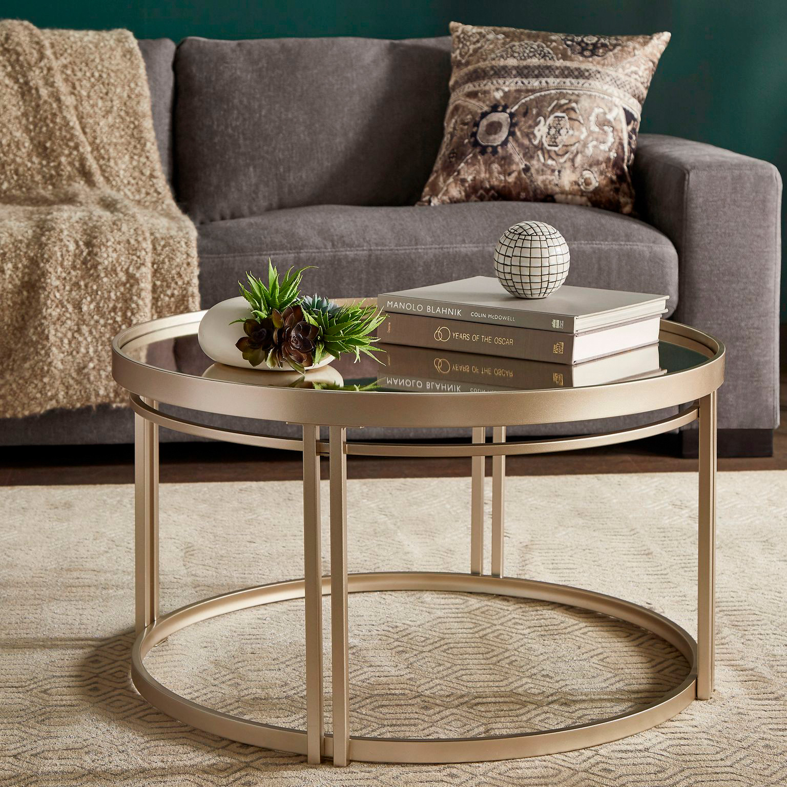Top Line | Callie Champagne Silver Coffee Table