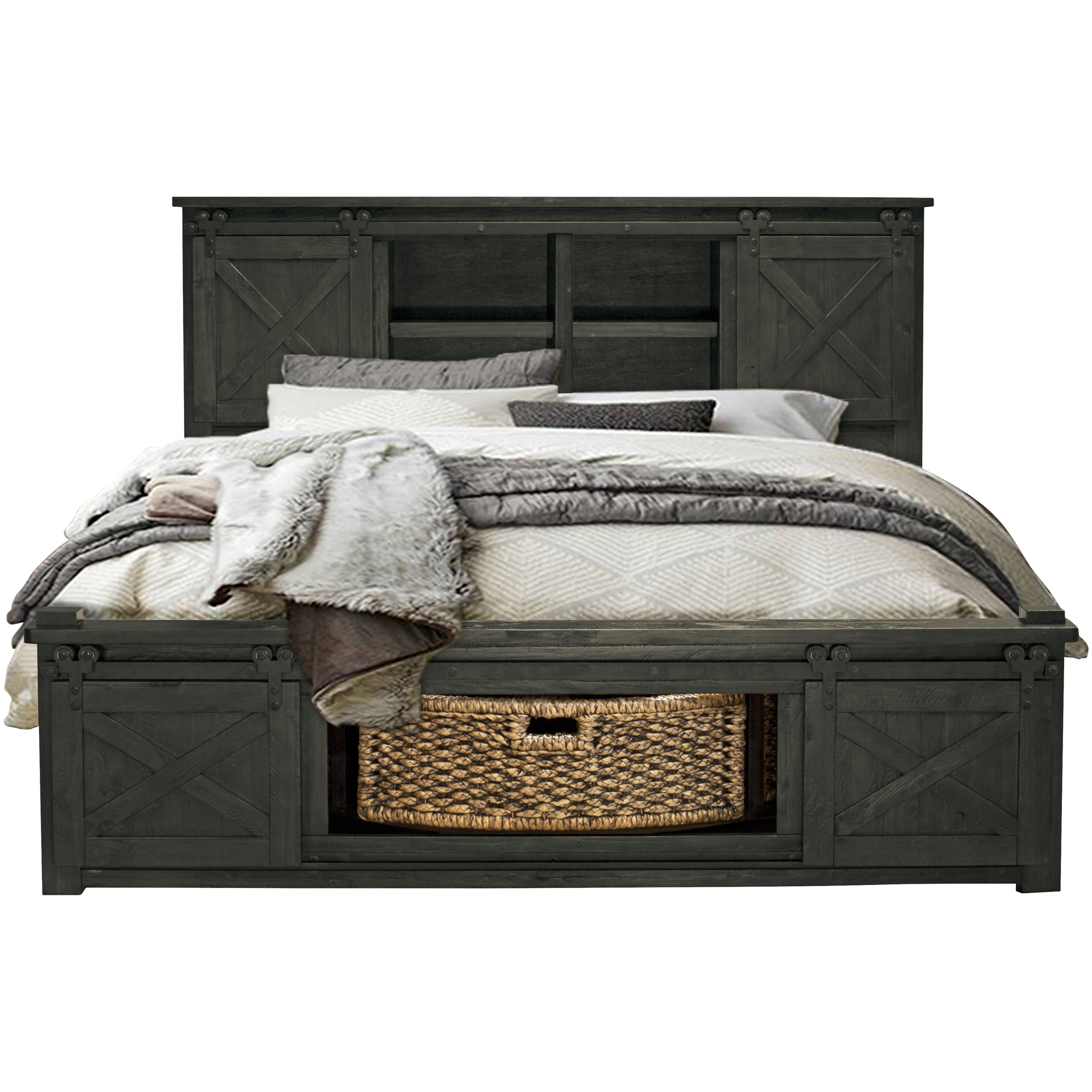 America | Sun Valley Charcoal California King Rotating Storage Bed