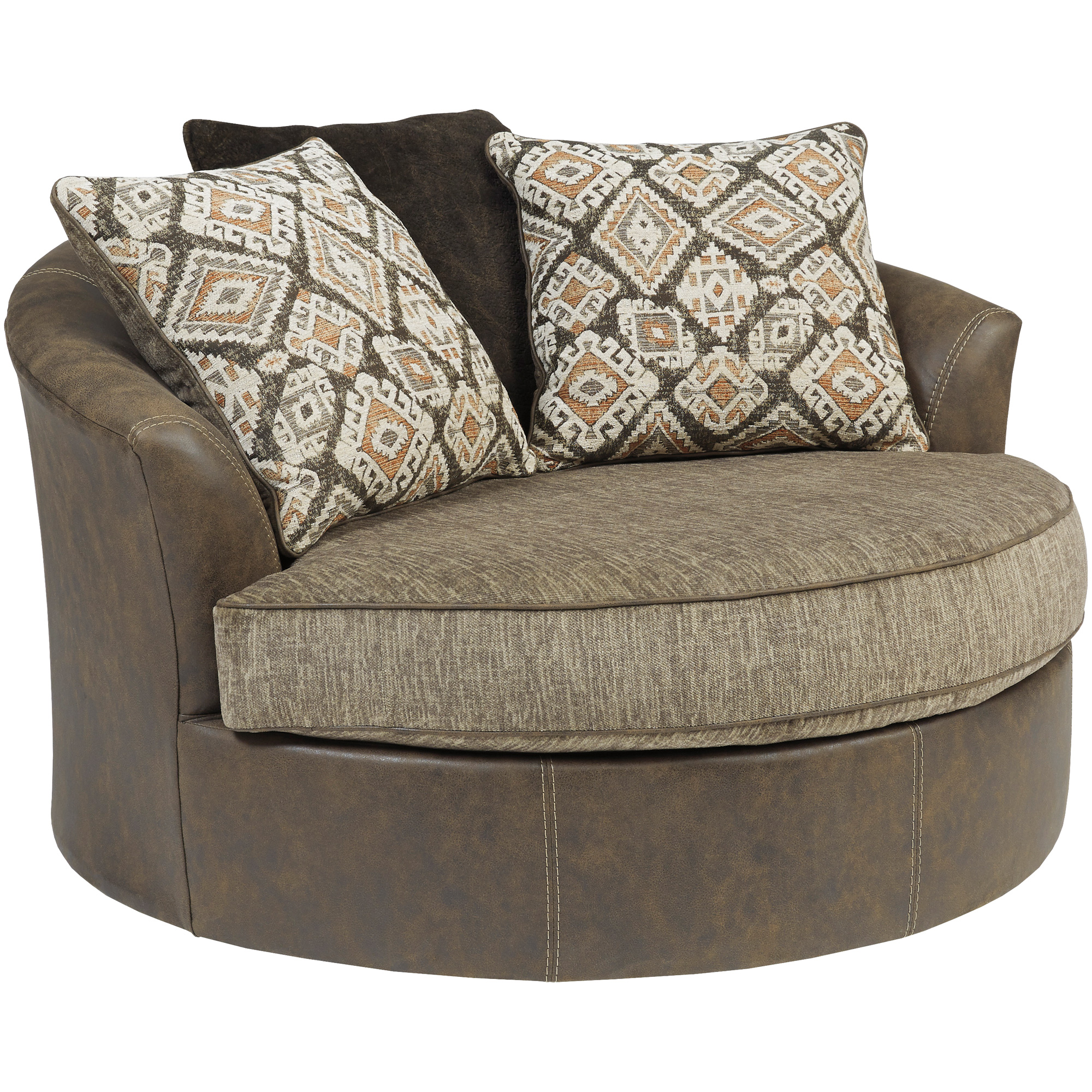 Ashley Furniture | Abalone Chocolate Swivel Accent Chair