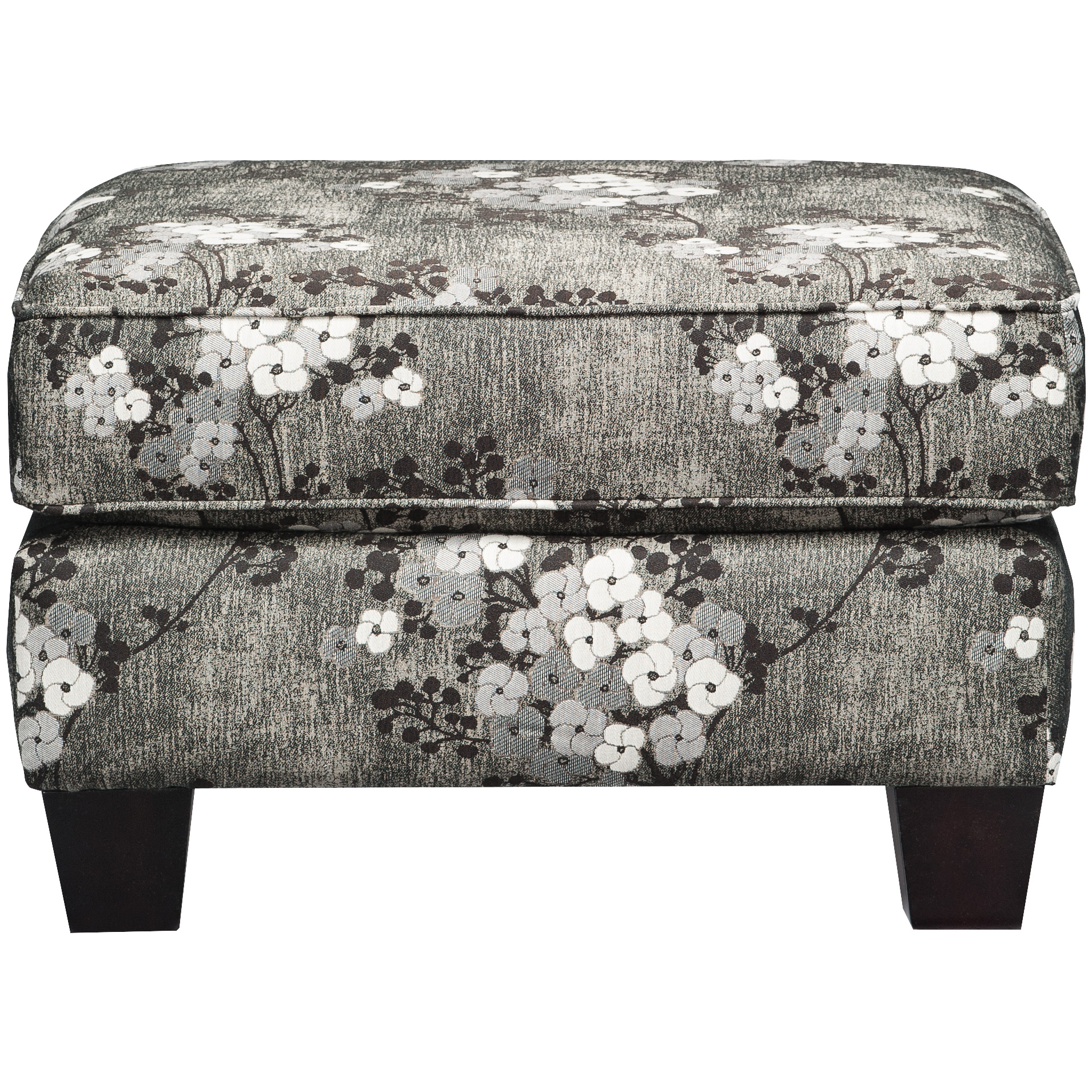 Dimensions By England | York Charcoal Ottoman