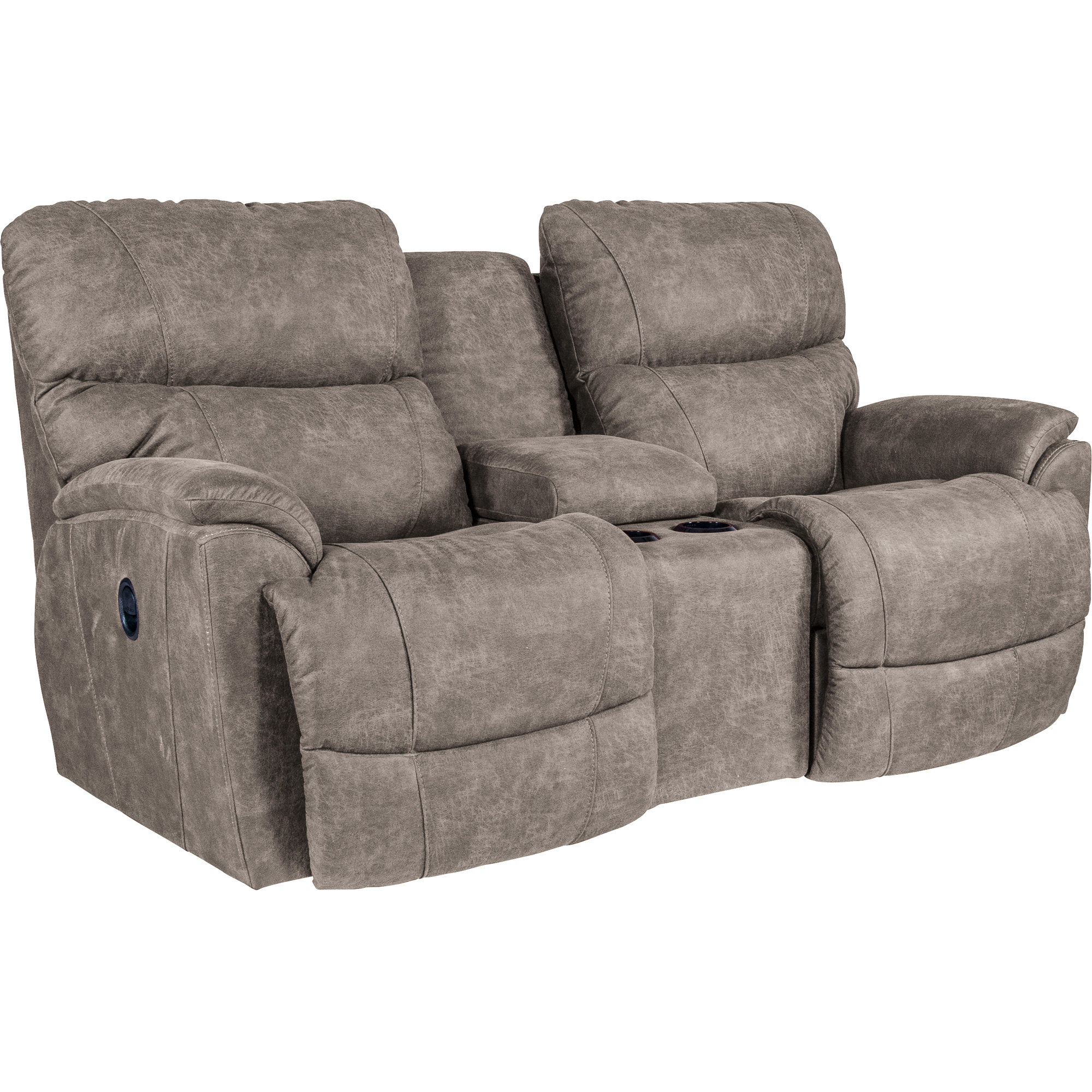 La-Z-Boy | Trouper Sable Reclining Console Loveseat Sofa