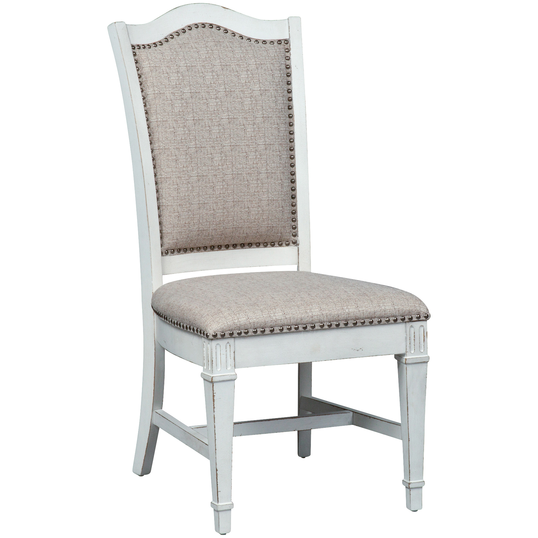 Liberty Furniture | Abbey Park White Upholstered Side Chair