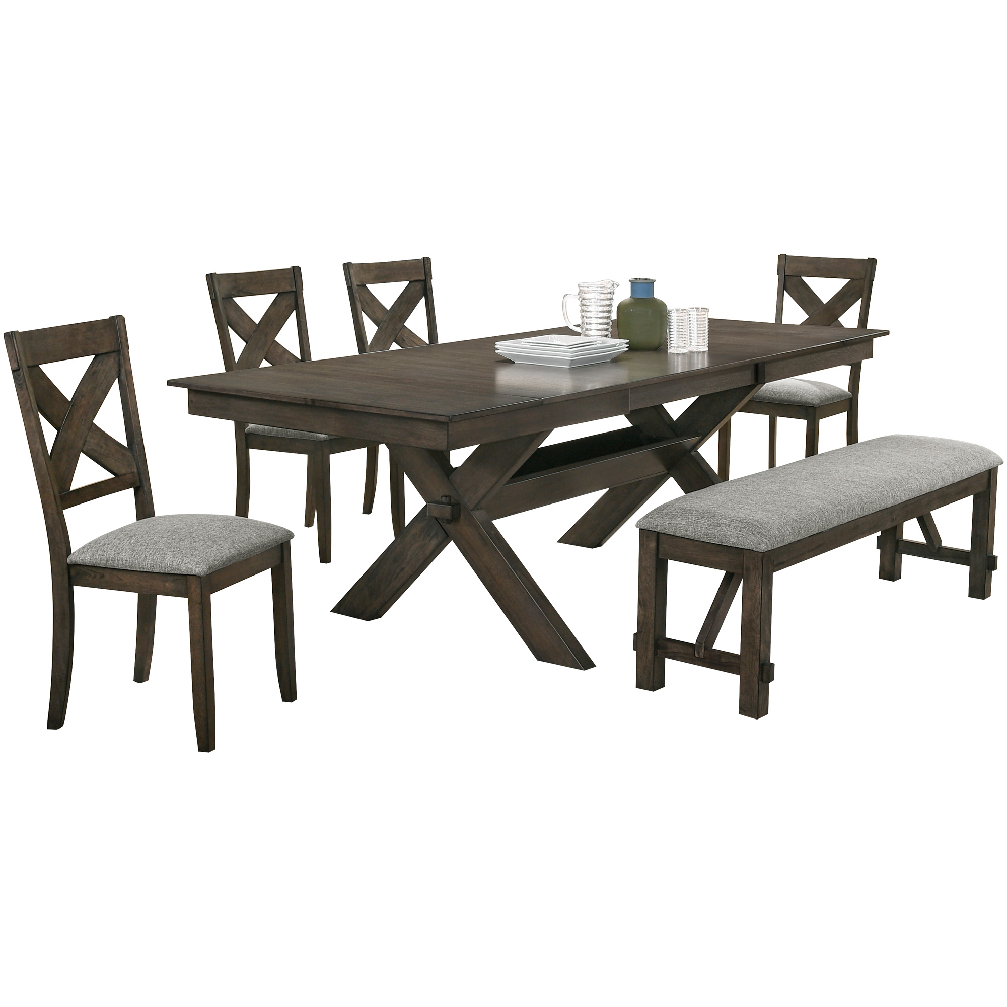 New Classic | Gulliver Rustic Brown 5 Piece Dining Set