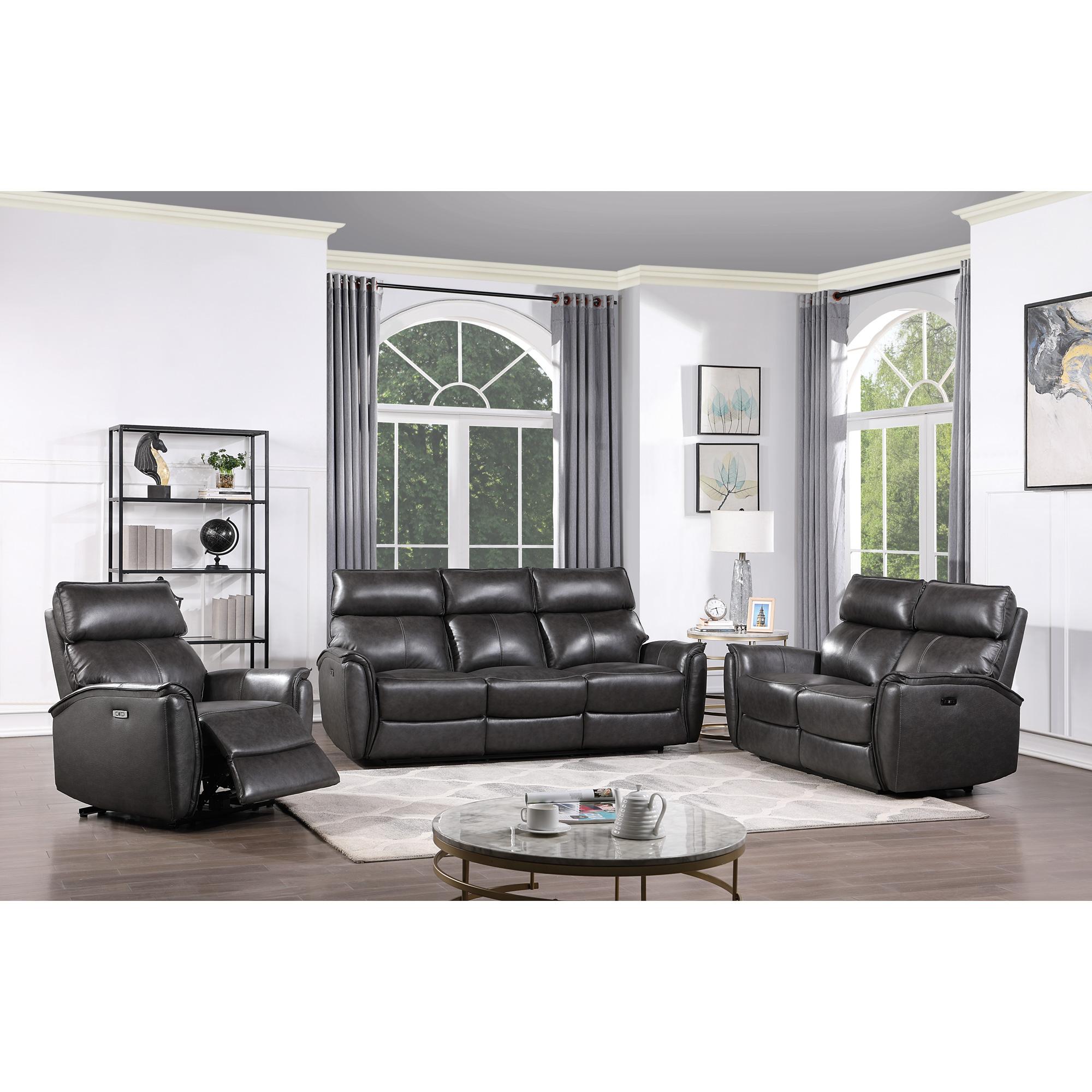 Master Sofa   Pomina Gray Power+ Reclining Sofa