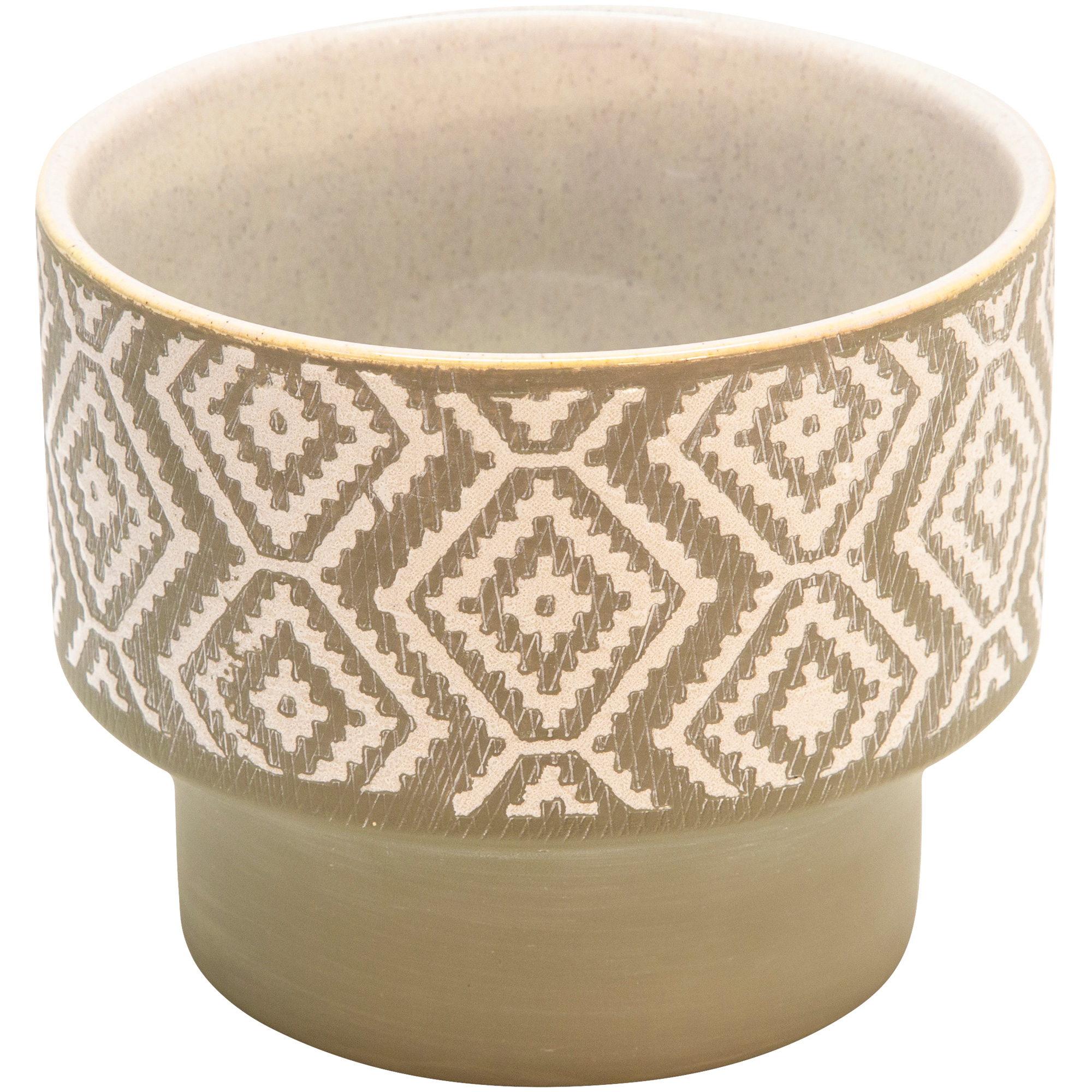 Sagebrook | Collected Culture Beige Ceramic Planter