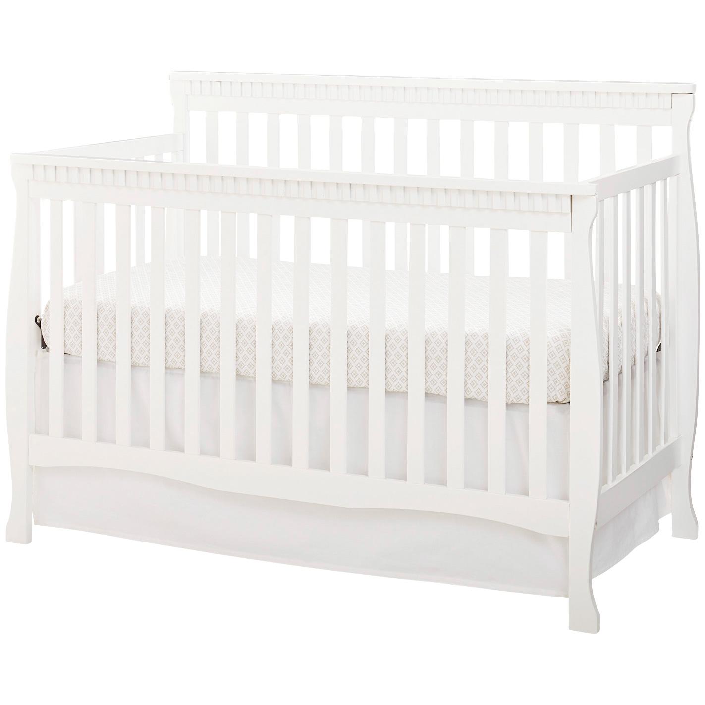 Westwood Design | Emery White Slat Crib