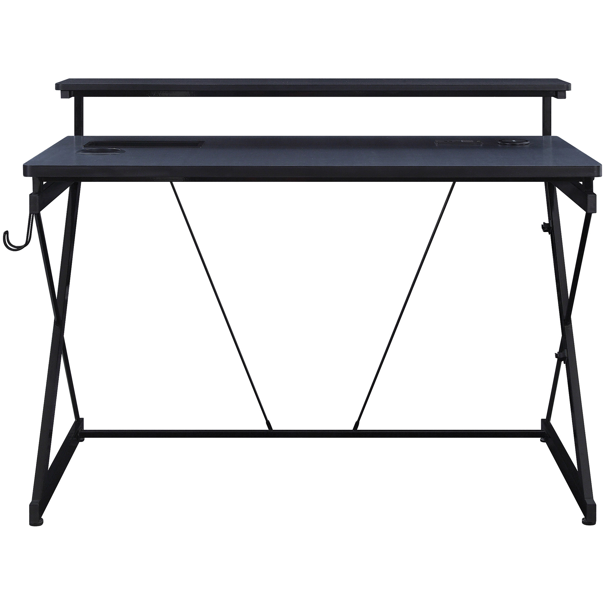 Office Star Products | Parallel Black Gaming Desk