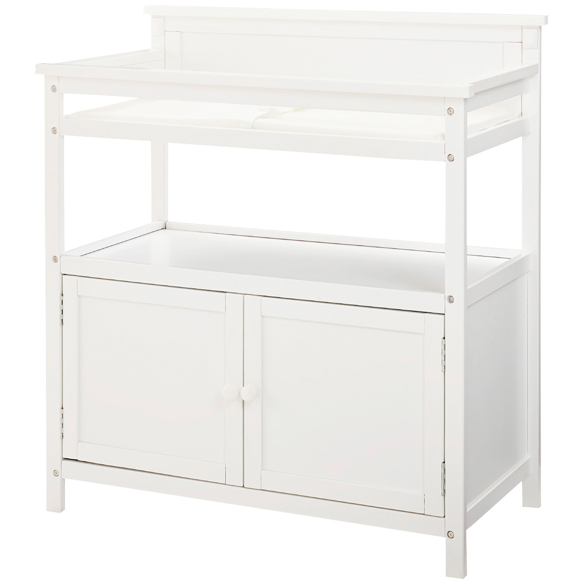 Westwood Design | Emery White Changing Table with Doors