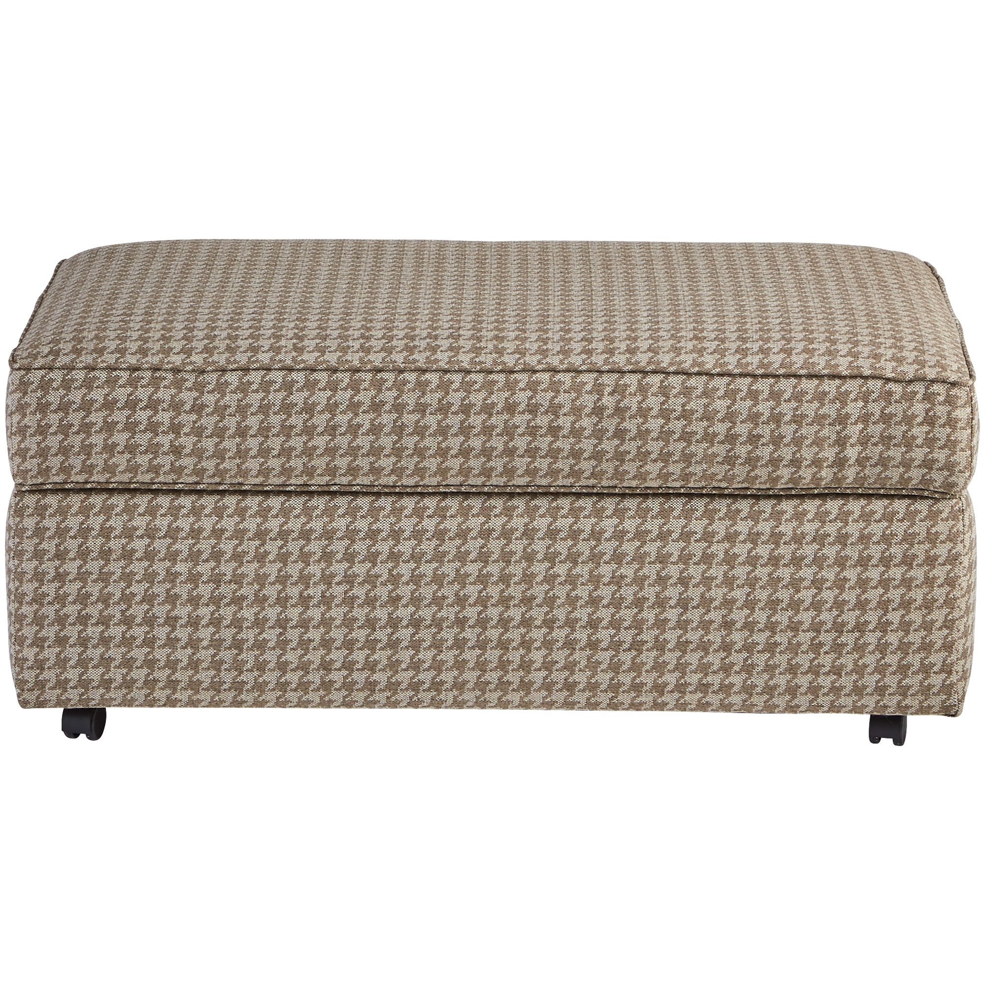 Dimensions By England   Burke Bisque Storage Ottoman