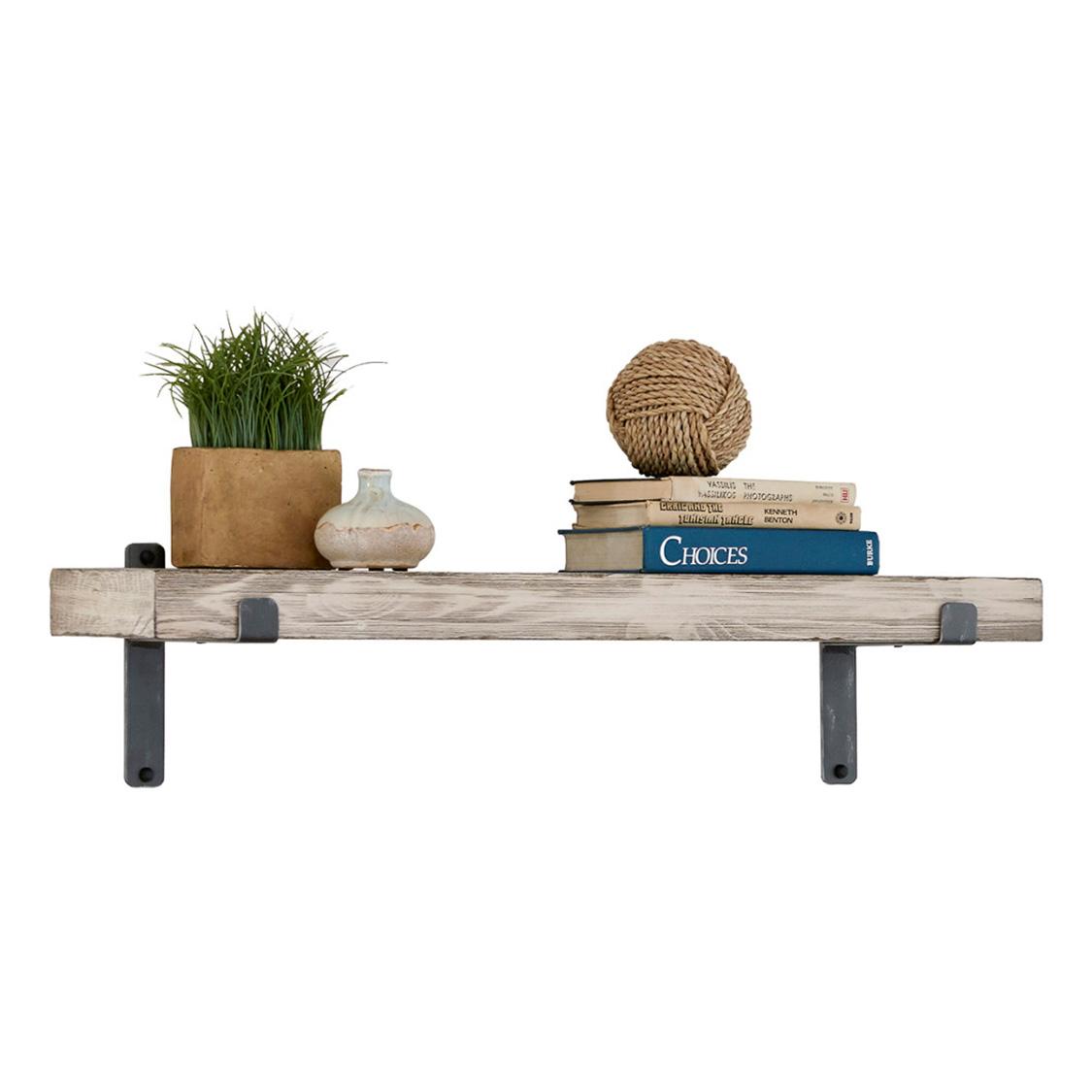 """Martin Furniture | Vintage White 36"""" Wall Shelf"""