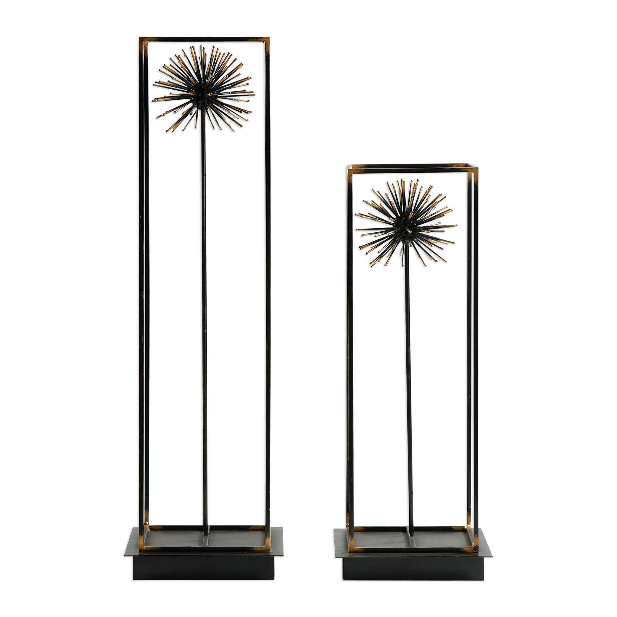 Uttermost | Golden Set of 2 Dandelion Sculptures | Black