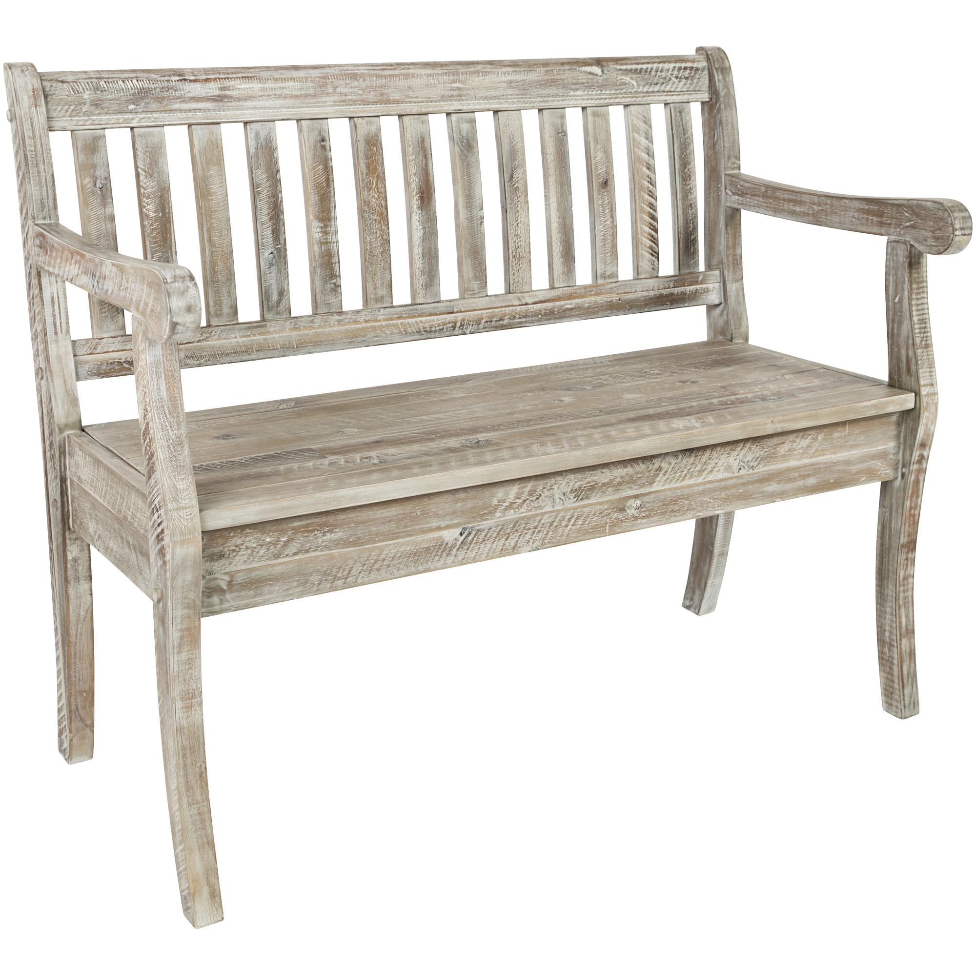 Jofran | Artisans Craft Gray Wash Storage Bench Chair