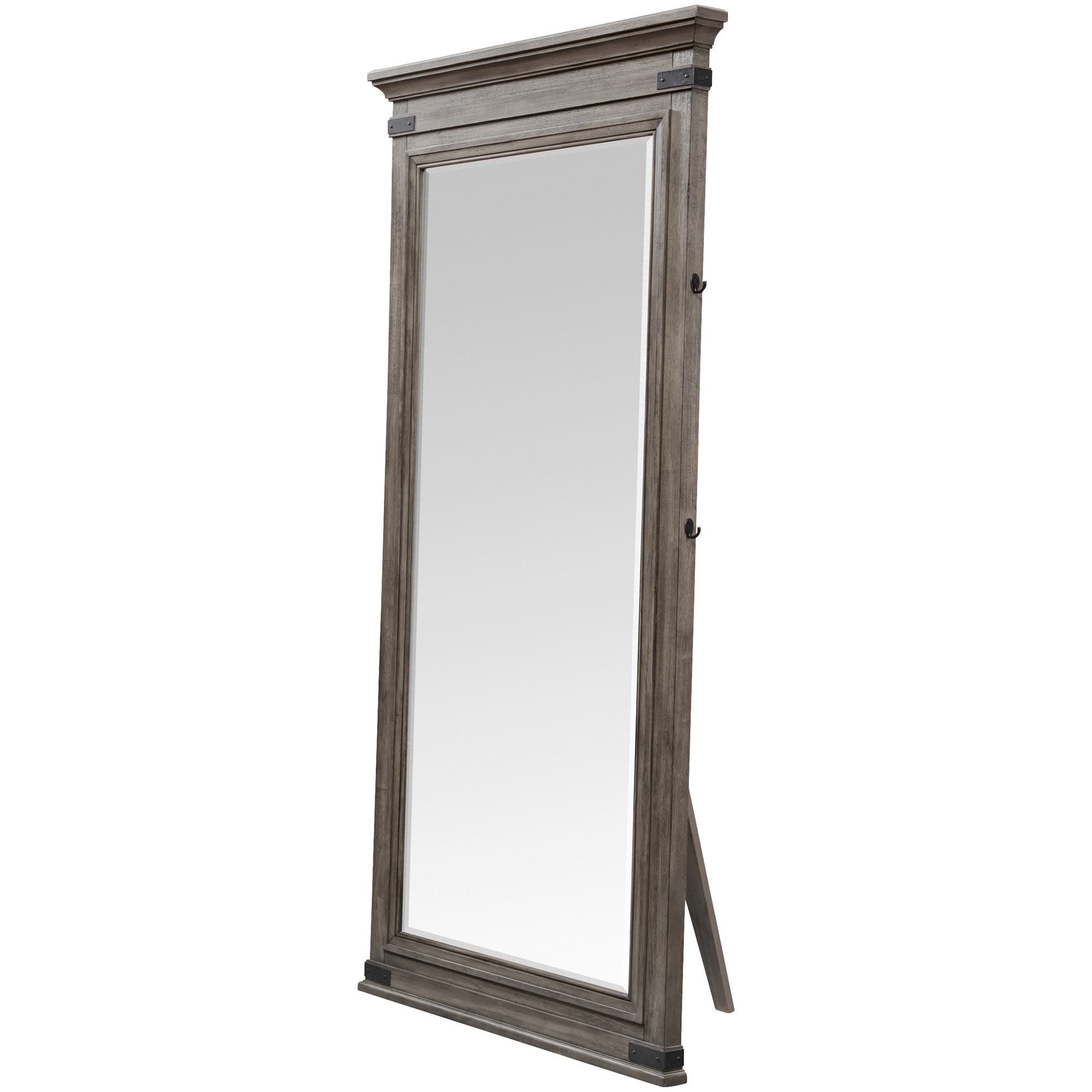 Intercon | Forge Brushed Steel Floor Mirror