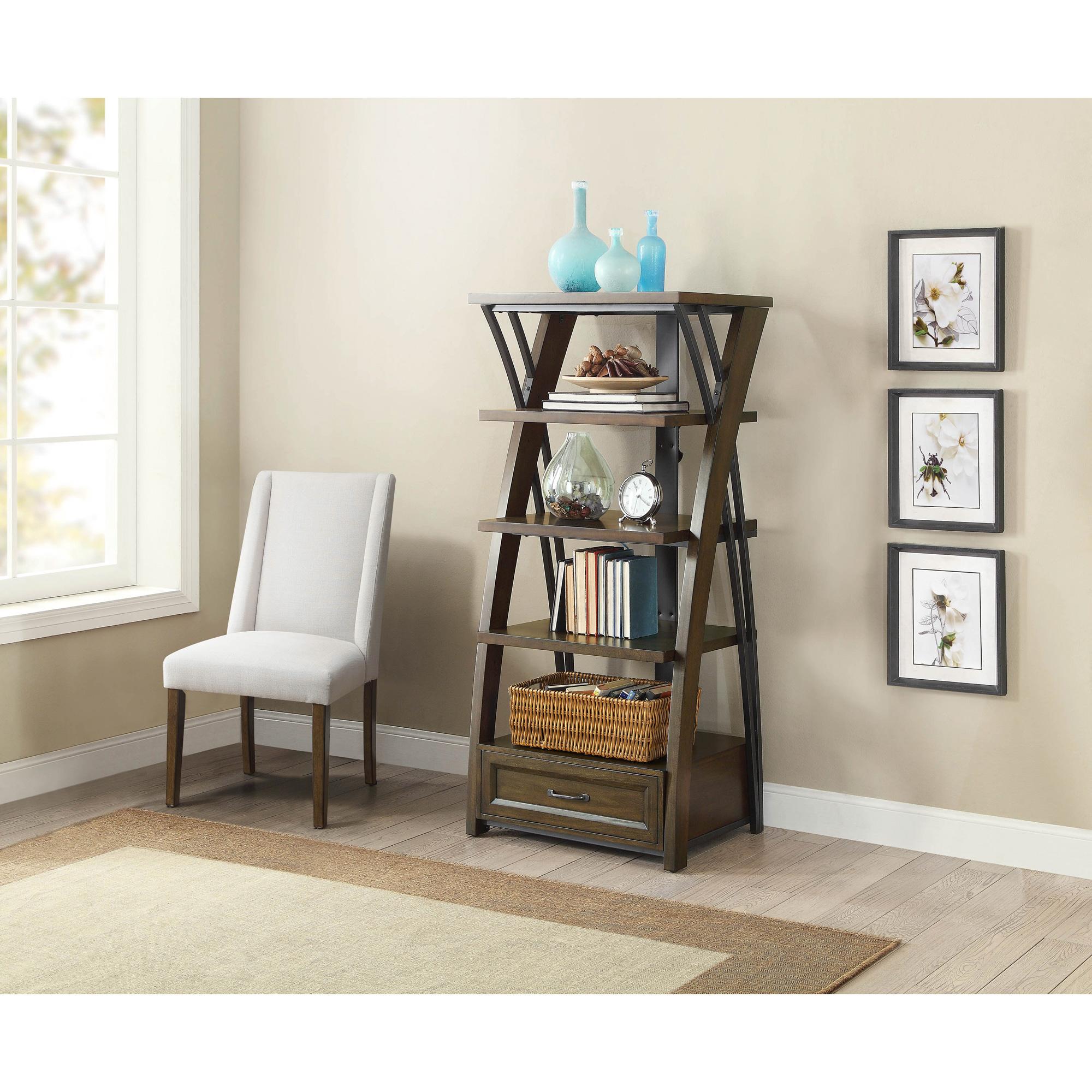 Whalen   Axon Brown Cherry Bookcase