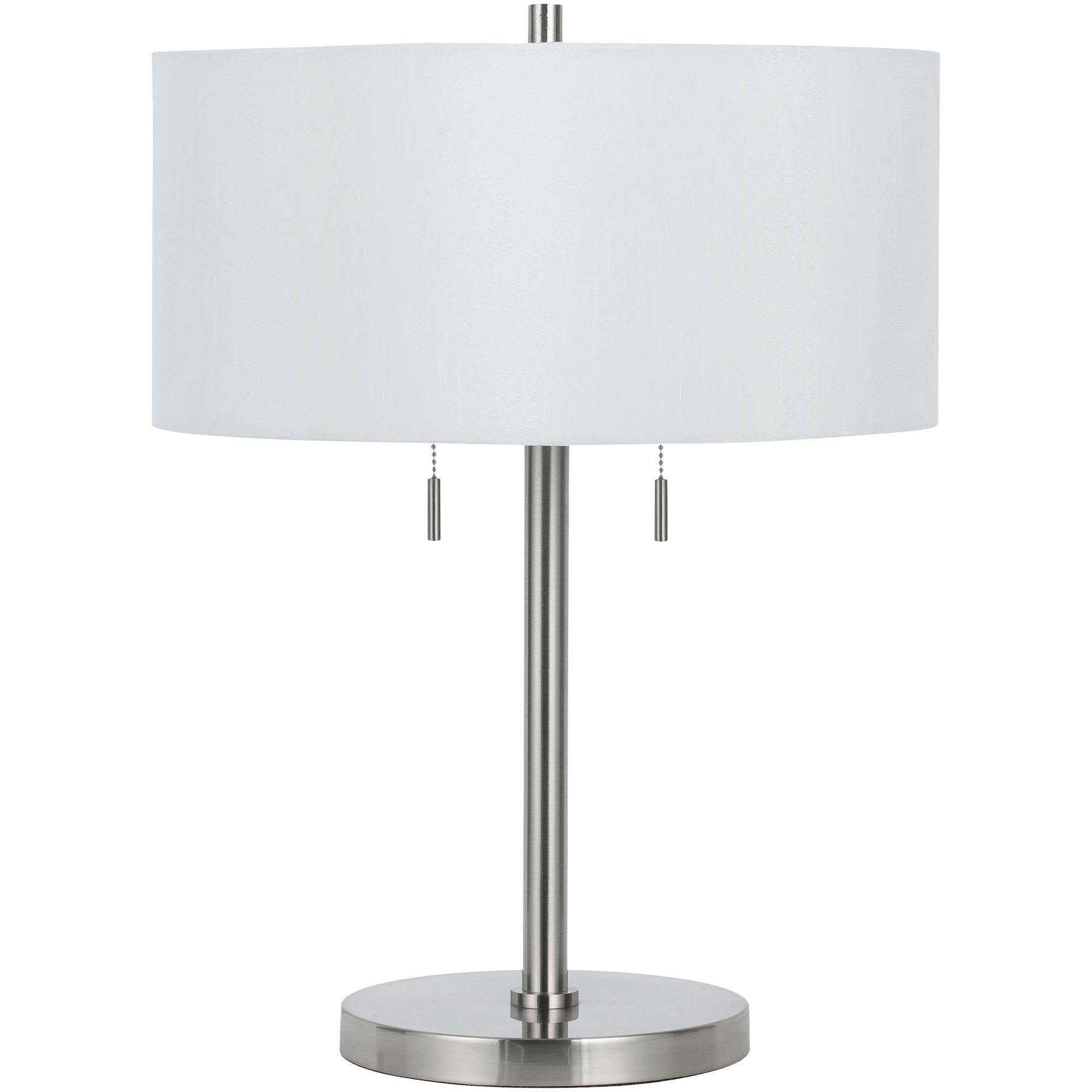 Cal Lighting | Calais Silver Table Lamp