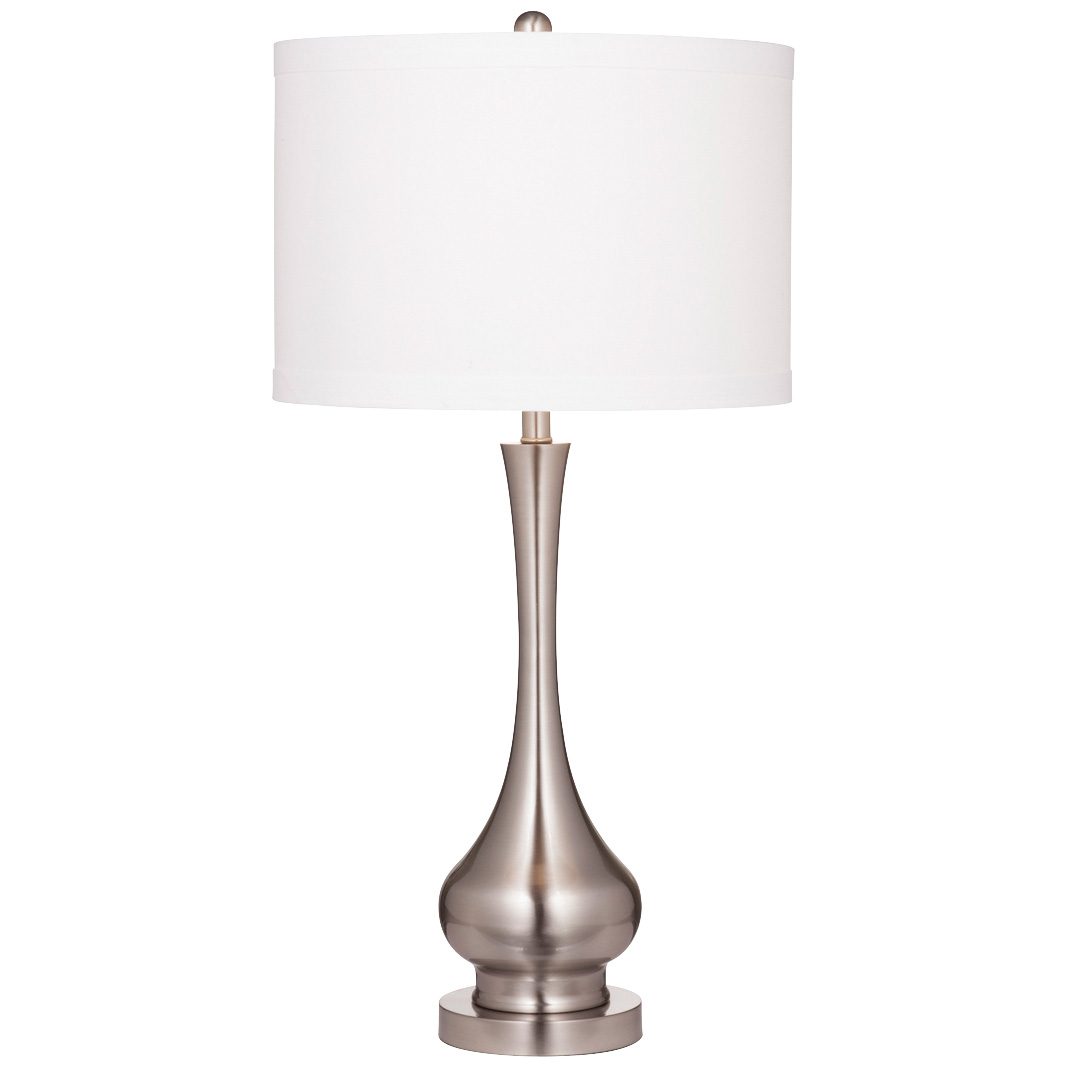 Bassett Mirror Co | Suzanna Brushed Silver Table Lamp