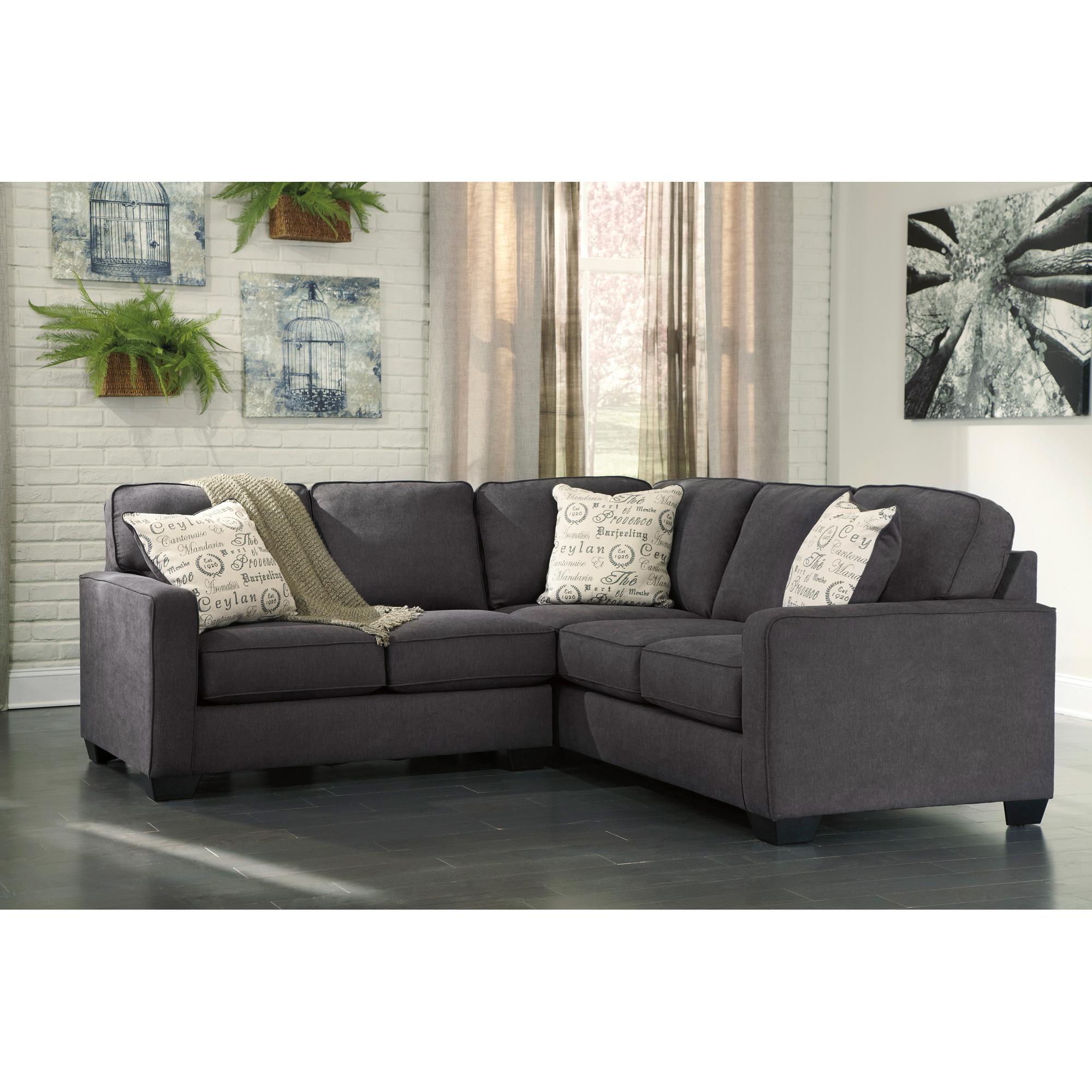 Ashley Furniture | Alenya Charcoal 2 Piece Left Sectional Sofa