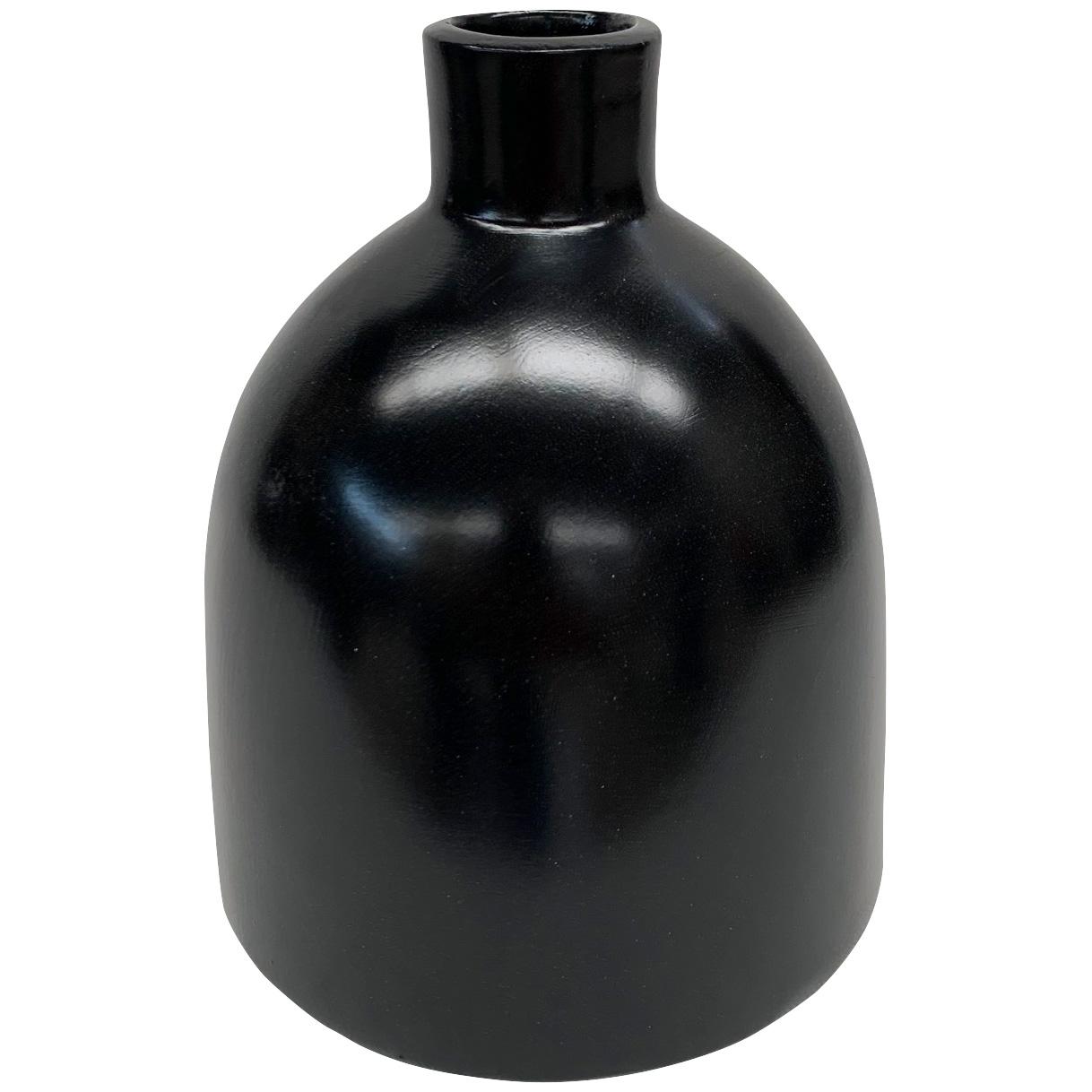 Promart | Terracotta Florero Black Medium Bottle Vase