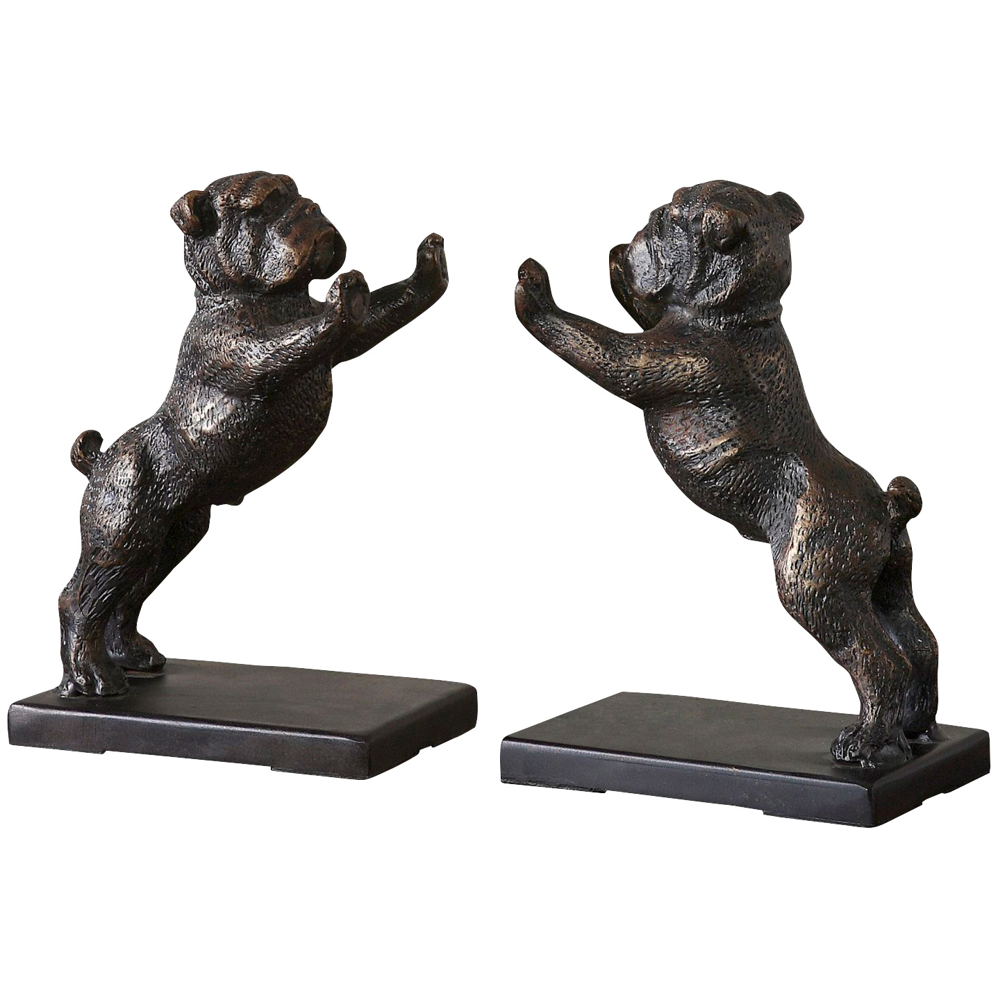 Uttermost | Bulldog Cast Iron Bookends | Gray