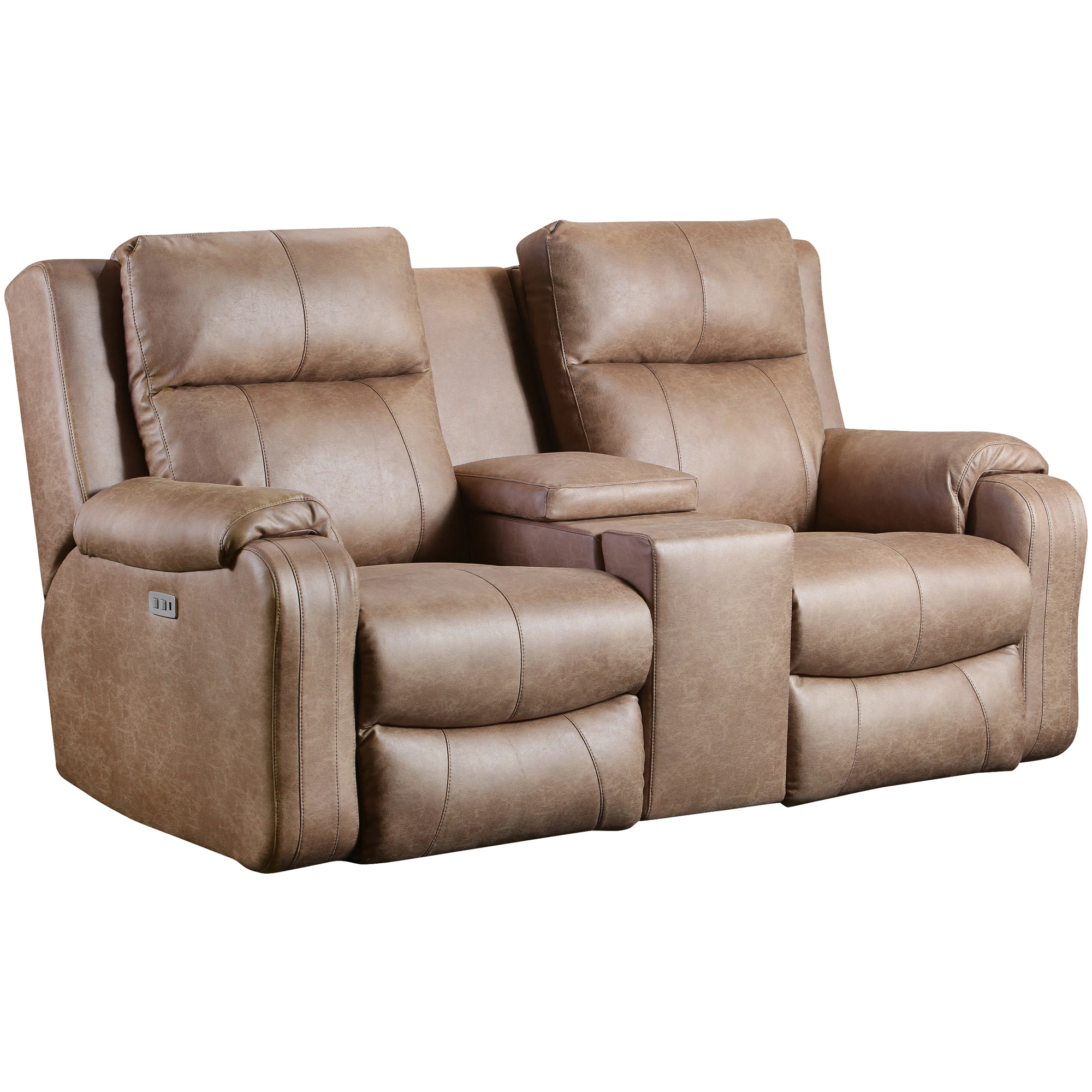 Southern Motion | Contour Vintage Power+ Reclining Next Level Console Loveseat Sofa