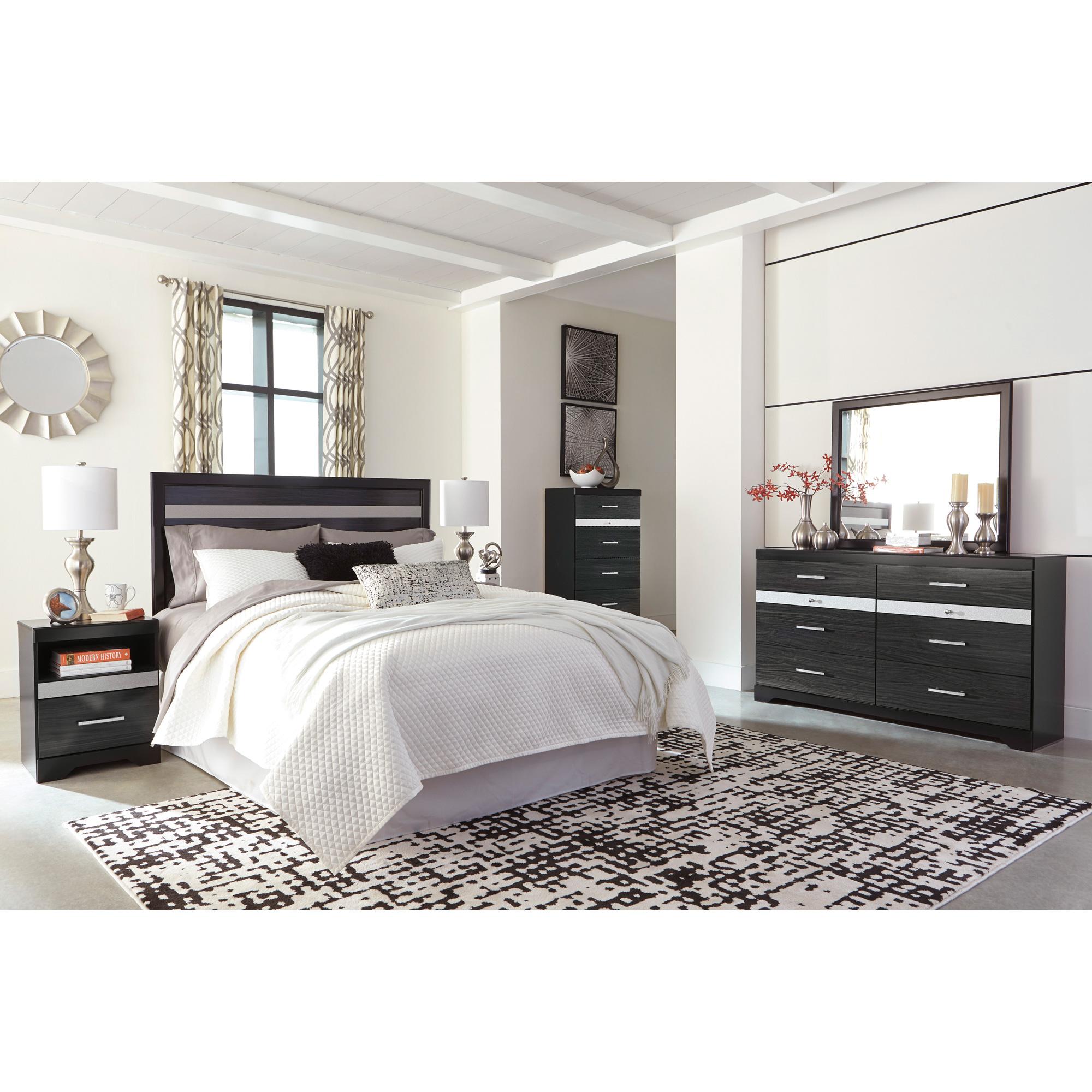 Ashley Furniture Starberry Black Queen Panel 4 Piece Room Group Bedroom Set Accuweather Shop