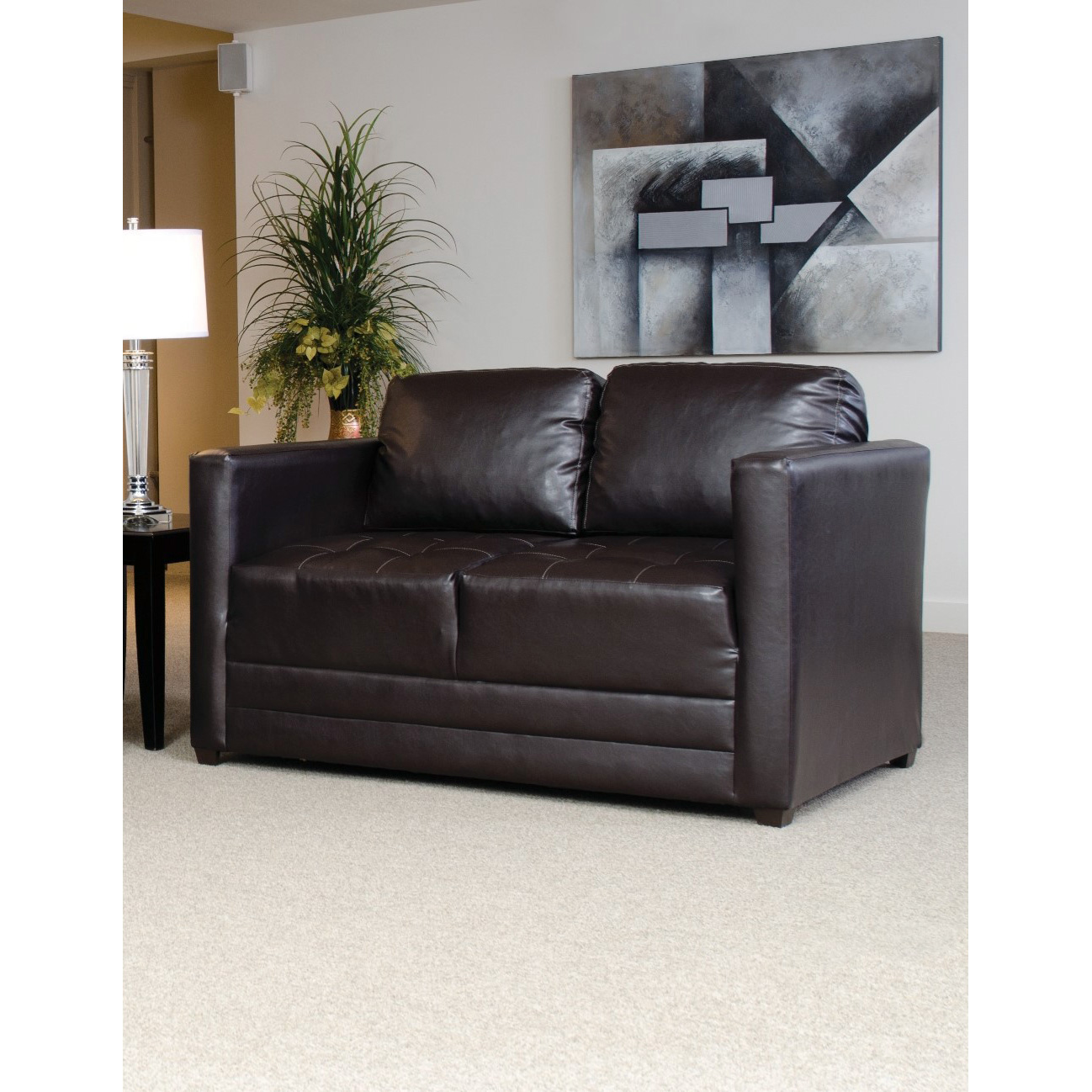 Serta Upholstery By Hughes Furniture | Burton Chocolate Loveseat Sofa