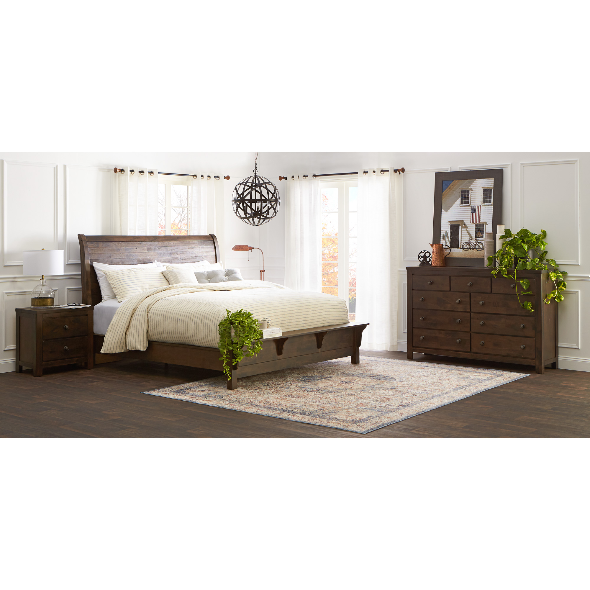 New Classic | Blue Ridge Rustic Gray Queen 4 Piece Room Group Bedroom Set