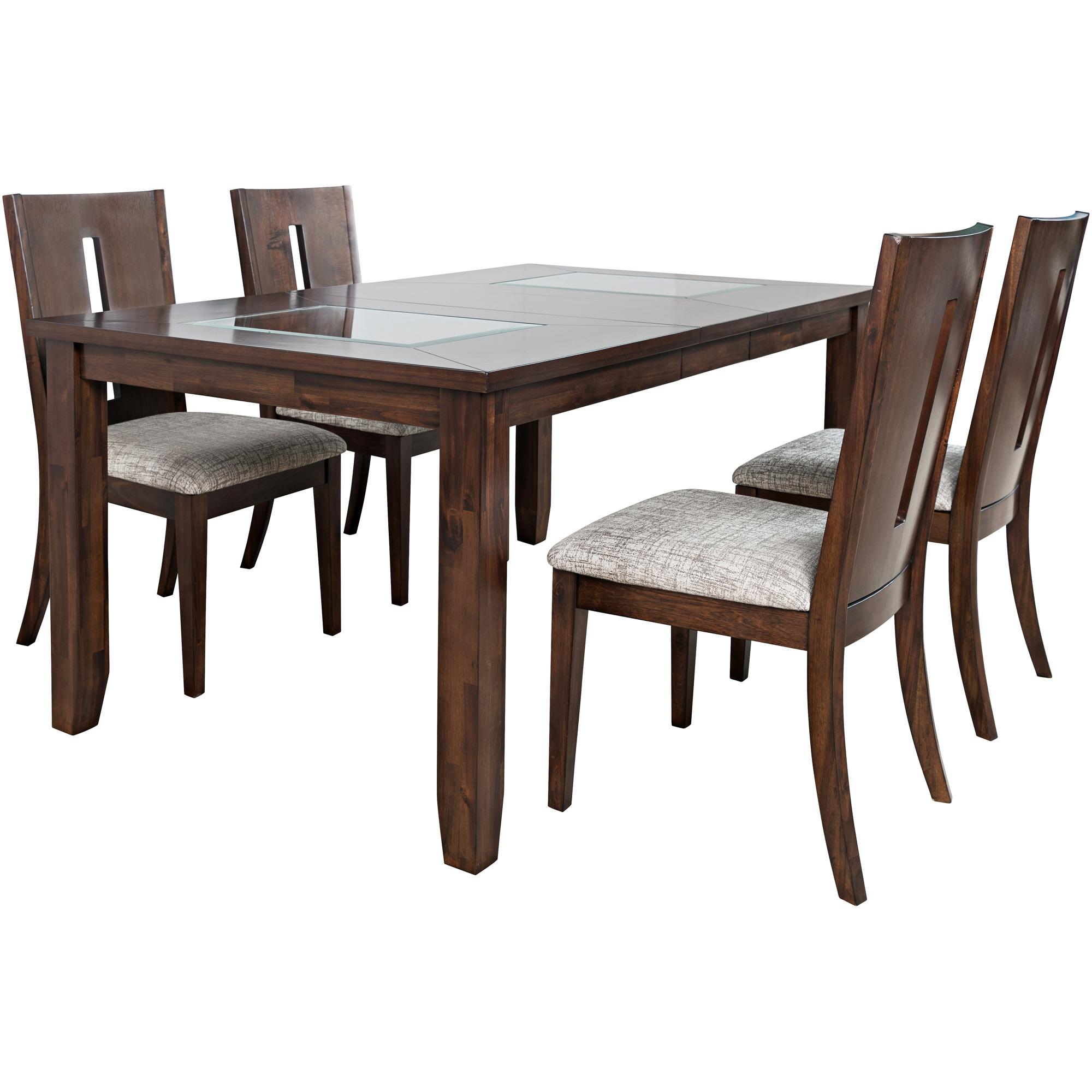 Jofran, Inc. | Urban Icon Merlot Rectangular 5 Piece Dining Set