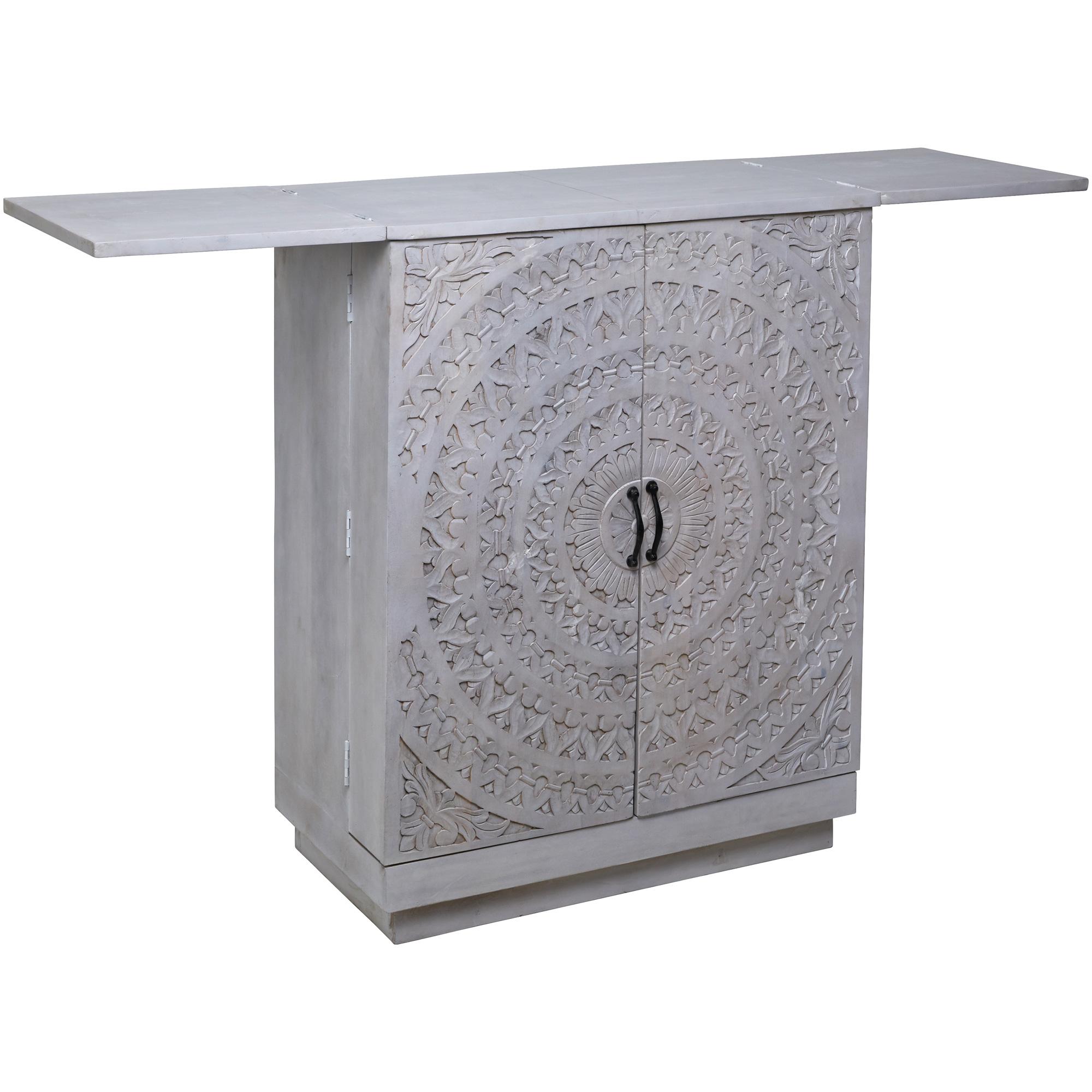 Jaipur Home LLC | Expressive Impressions White Cabinet