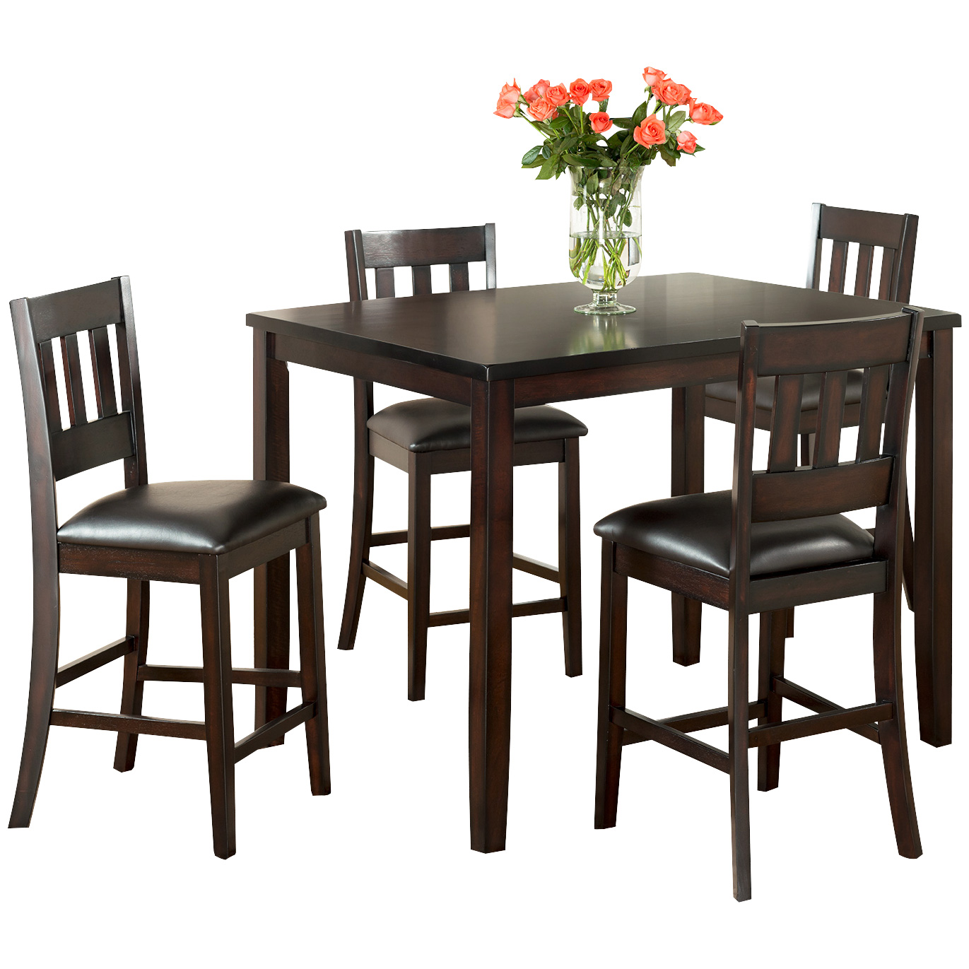 Vilo Home | Americano Cherry 5 Piece Counter Dining Set