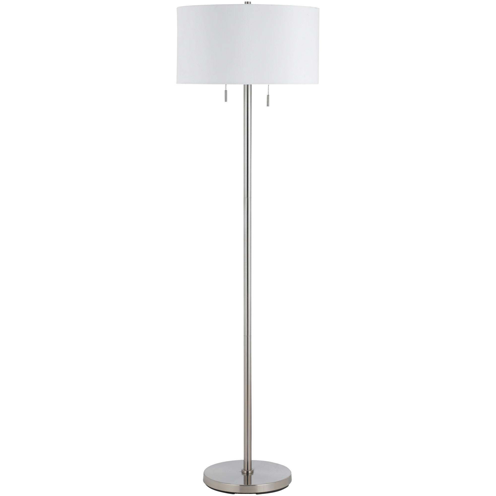 Cal Lighting | Calais Brushed Steel Floor Lamp