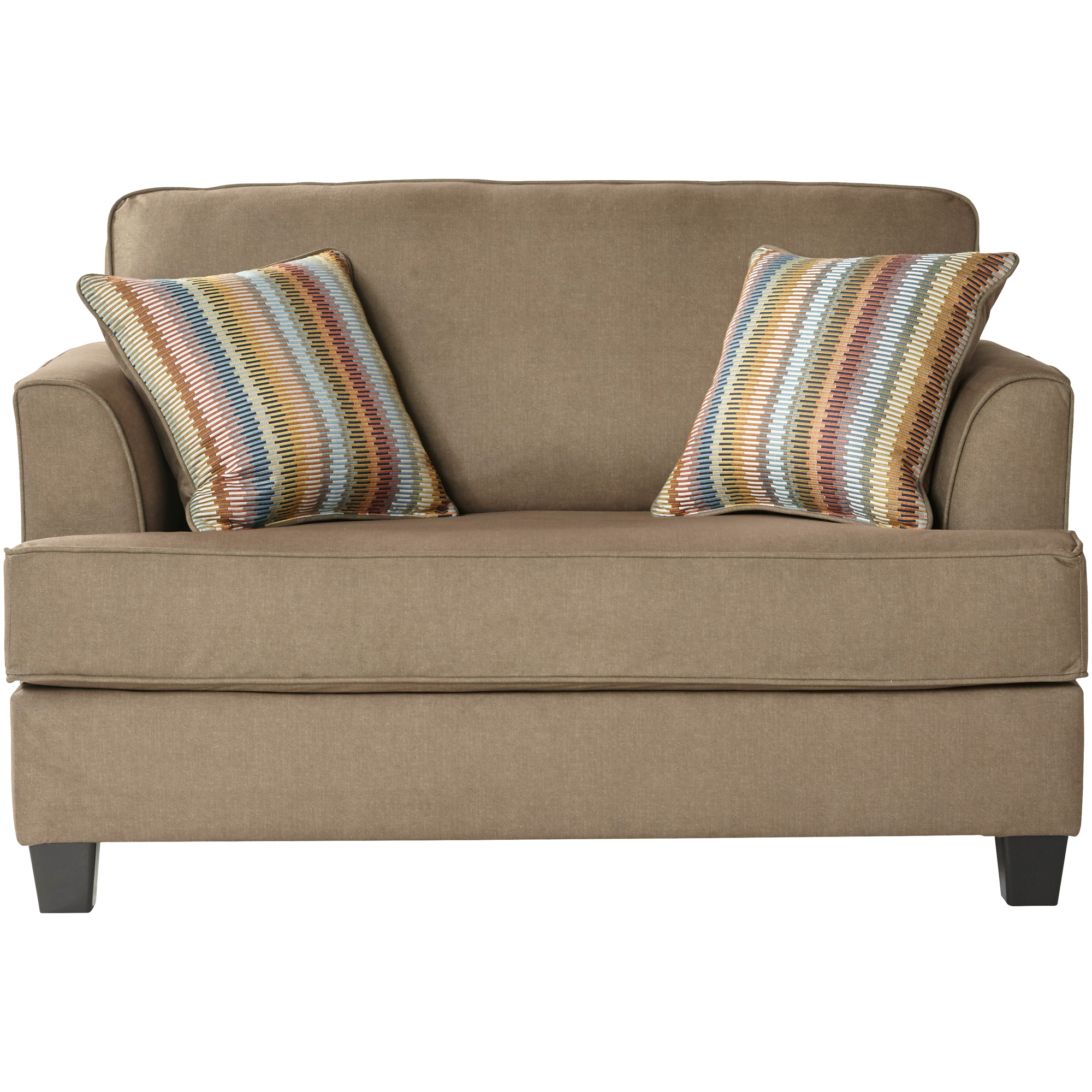 Serta Upholstery By Hughes Furniture | Aloron Beamer Khaki Cuddle Sleeper Sofa