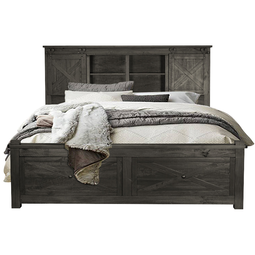 America | Sun Valley Charcoal California King Storage Bed