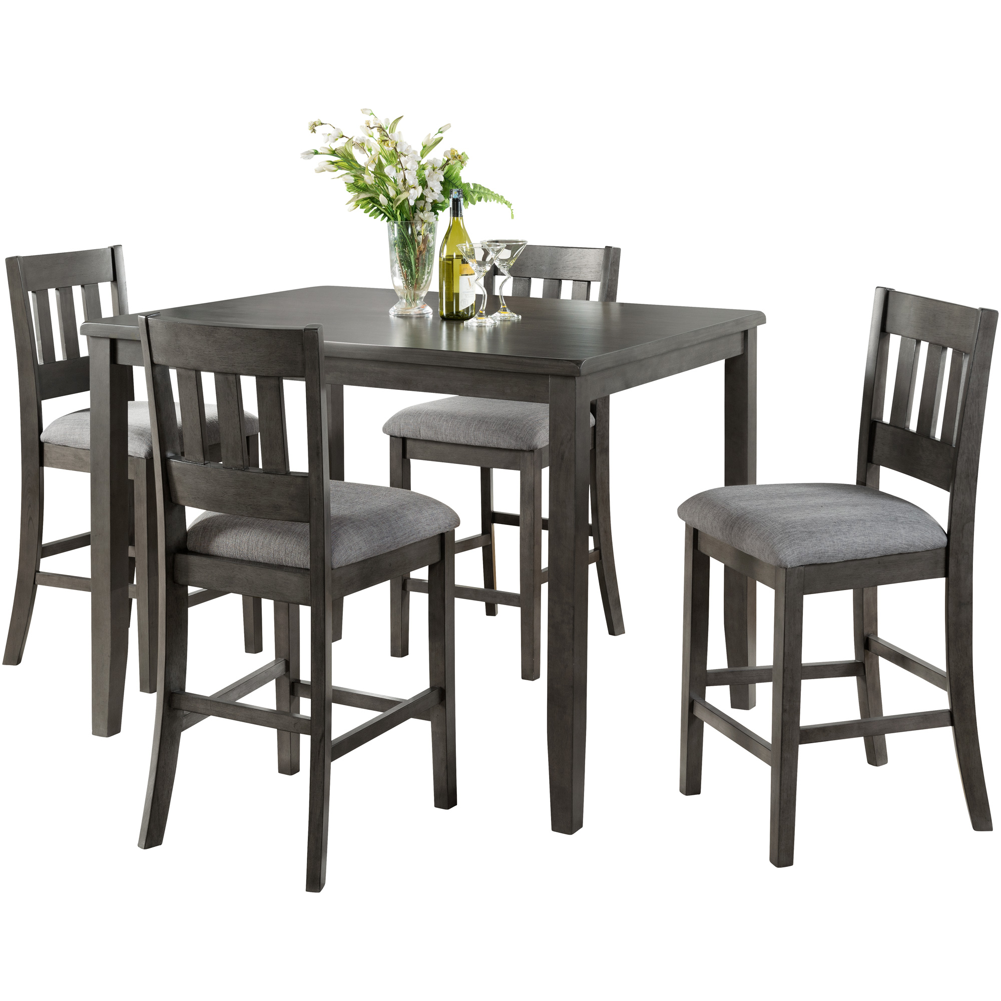 Vilo Home | Ithaca Gray 5 Piece Counter Dining Set