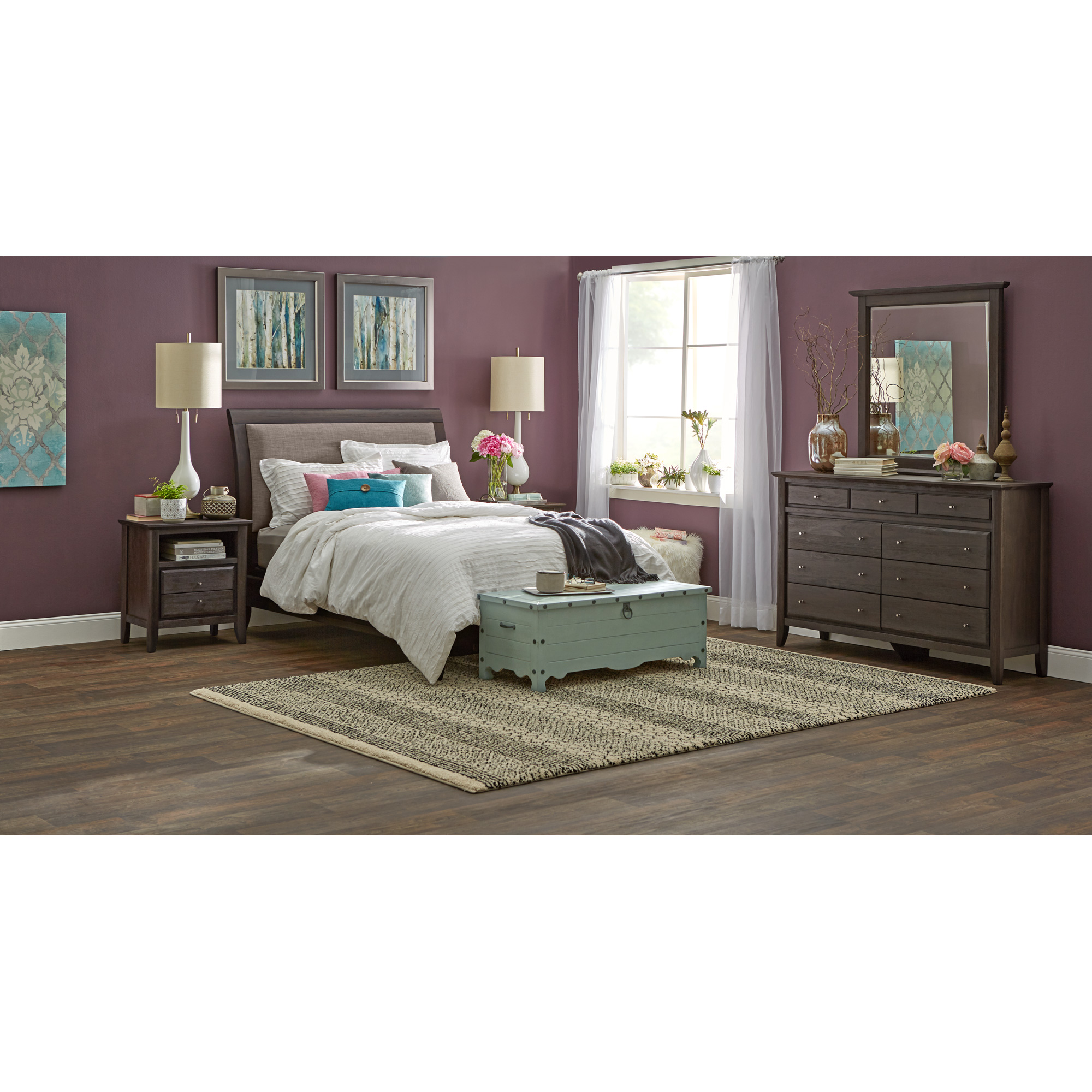 Modus Furniture International | City II Basalt King 4 Piece Room Group Bedroom Set
