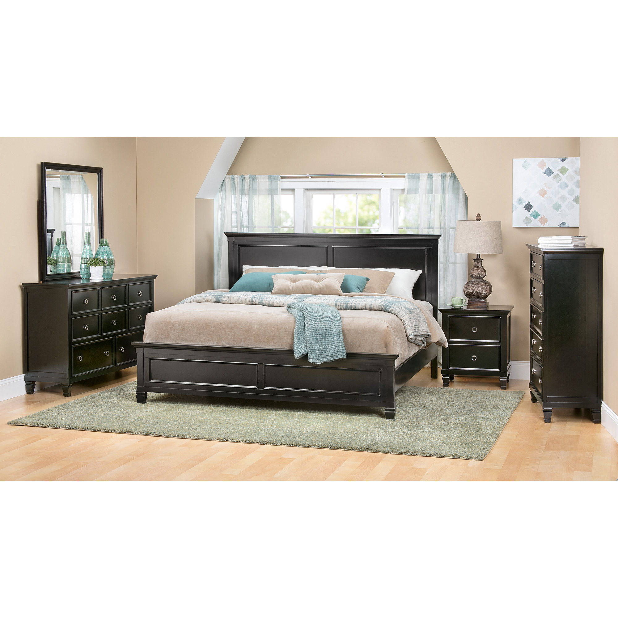 New Classic | Persia II Black Full 4 Piece Room Group Bedroom Set