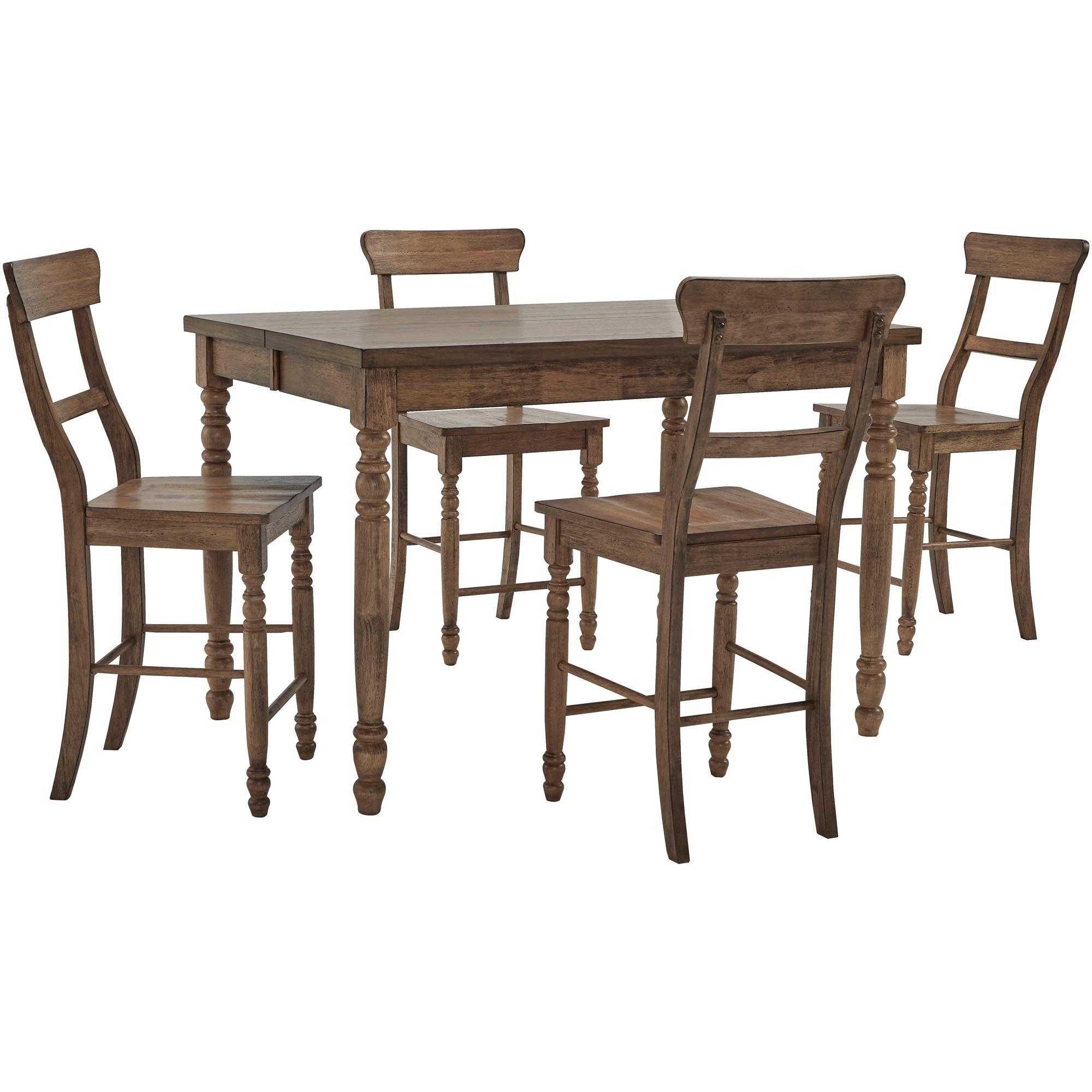 Progressive Furniture Inc. | Savannah Court Antique Oak 5 Piece Counter Dining Set