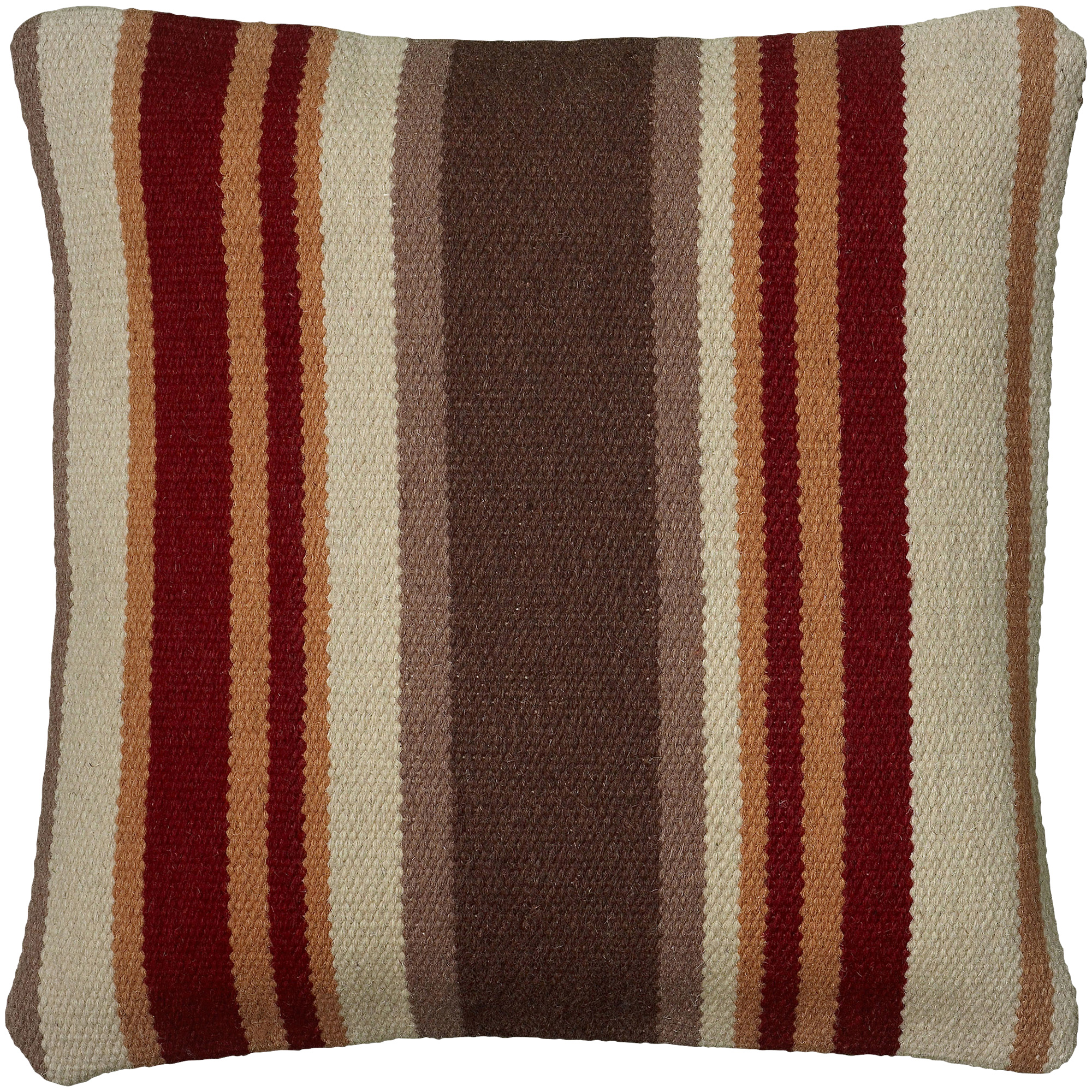 Rizzy Home | Aztec Striped Brown and Red Down Pillow