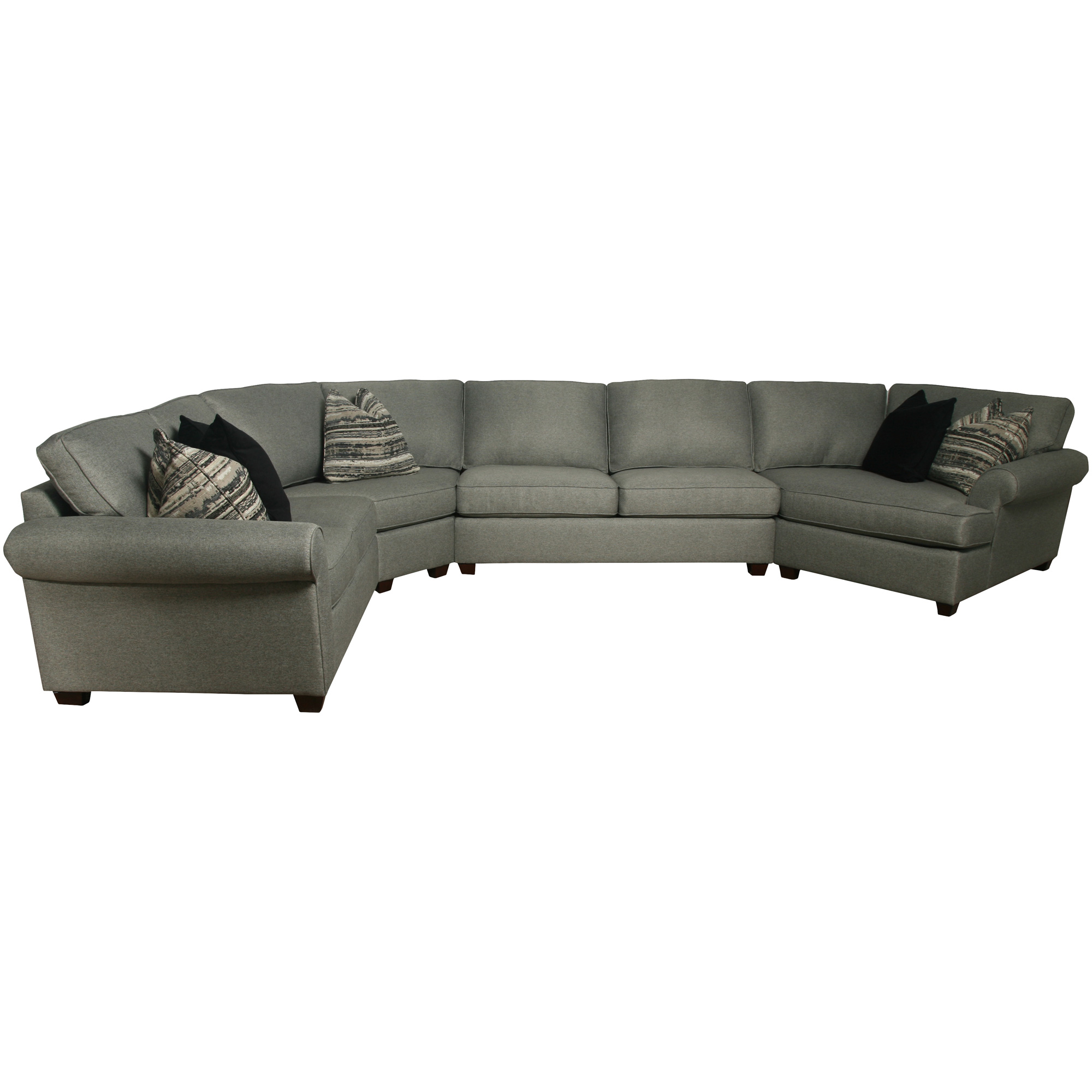 Bauhaus Furniture   Pathway Charcoal 4 Piece Right Cuddler Sectional Sofa