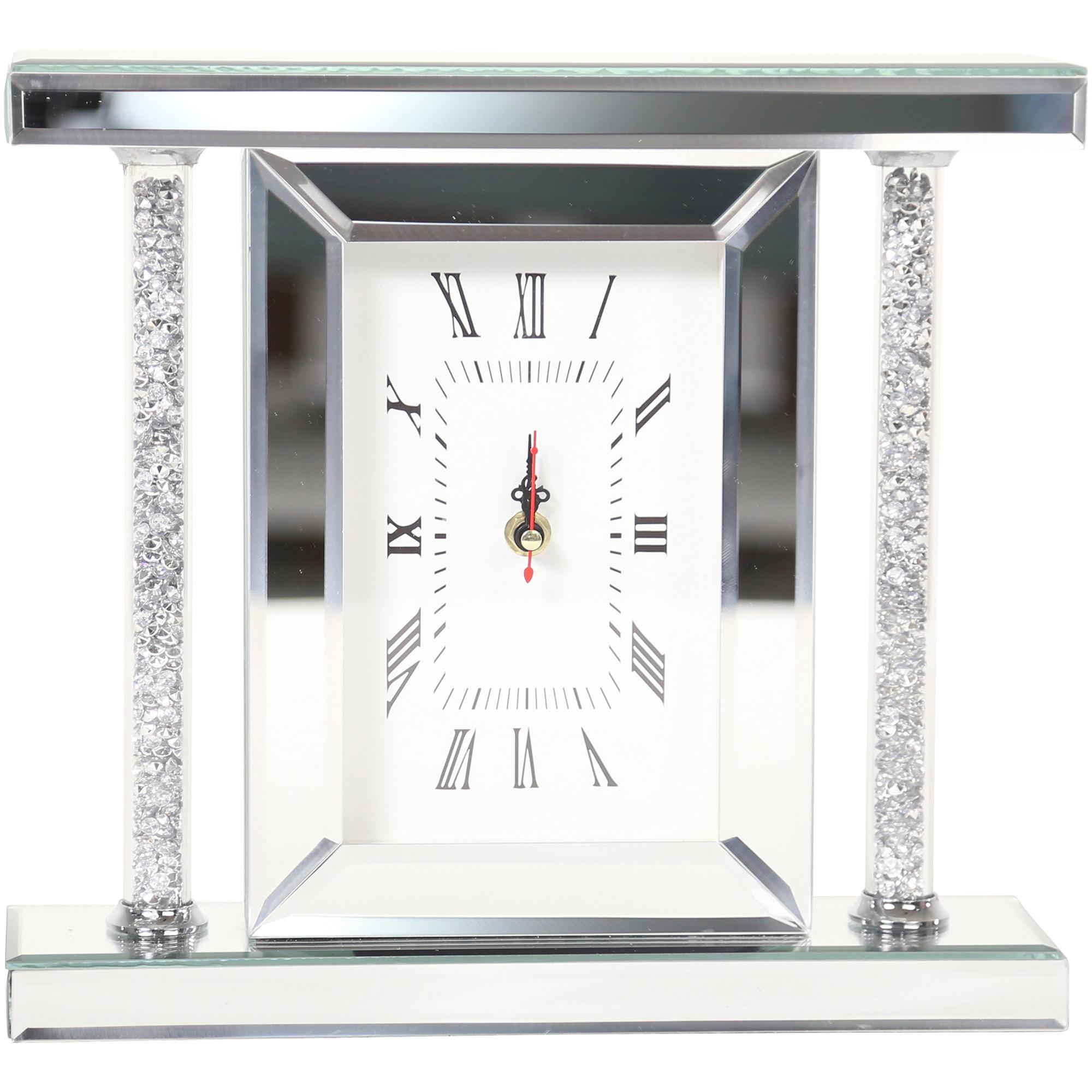 Sagebrook | Elevated Chic Silver Glitz Table Clock