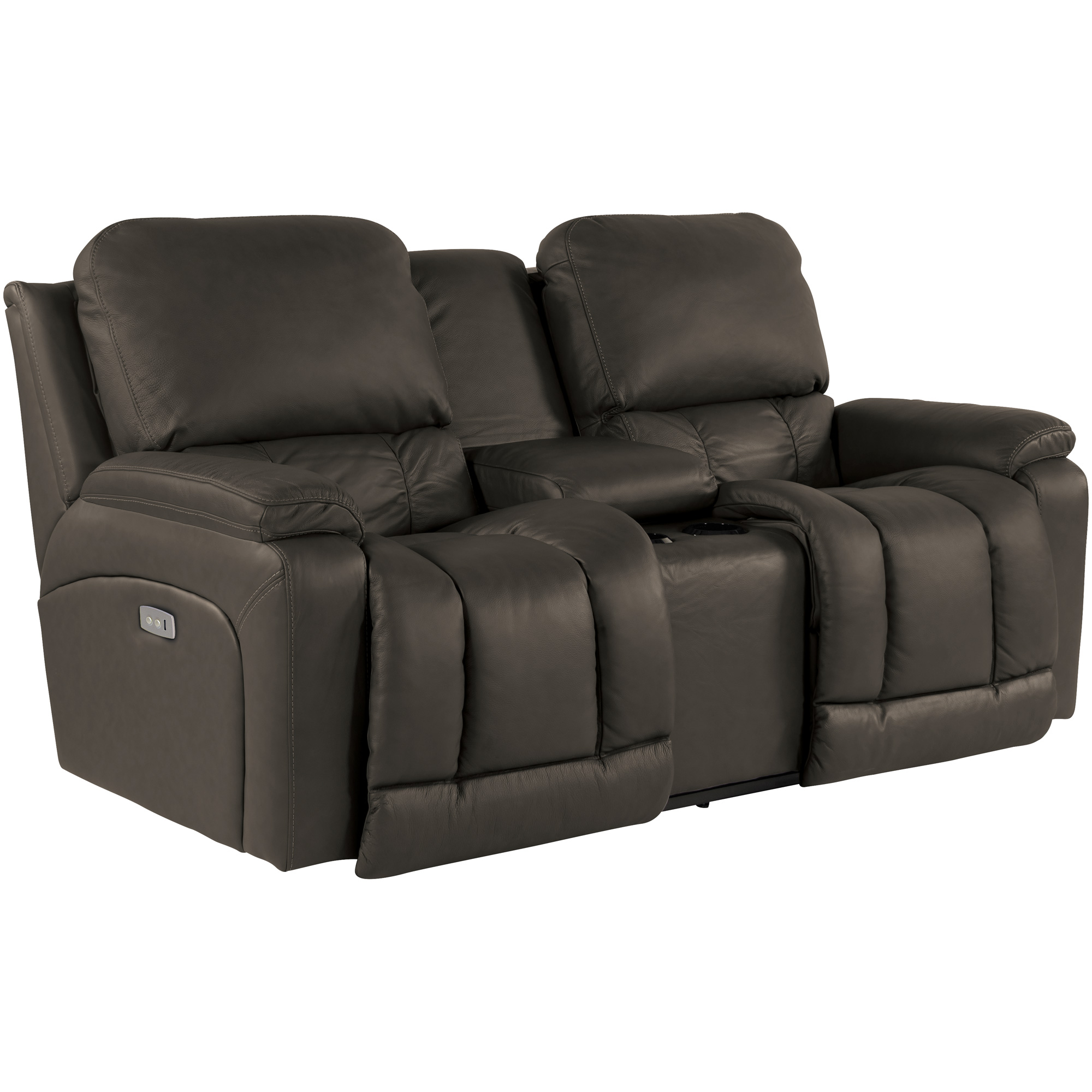 La-Z-Boy | Greyson Shitake Power Reclining Console Loveseat Sofa